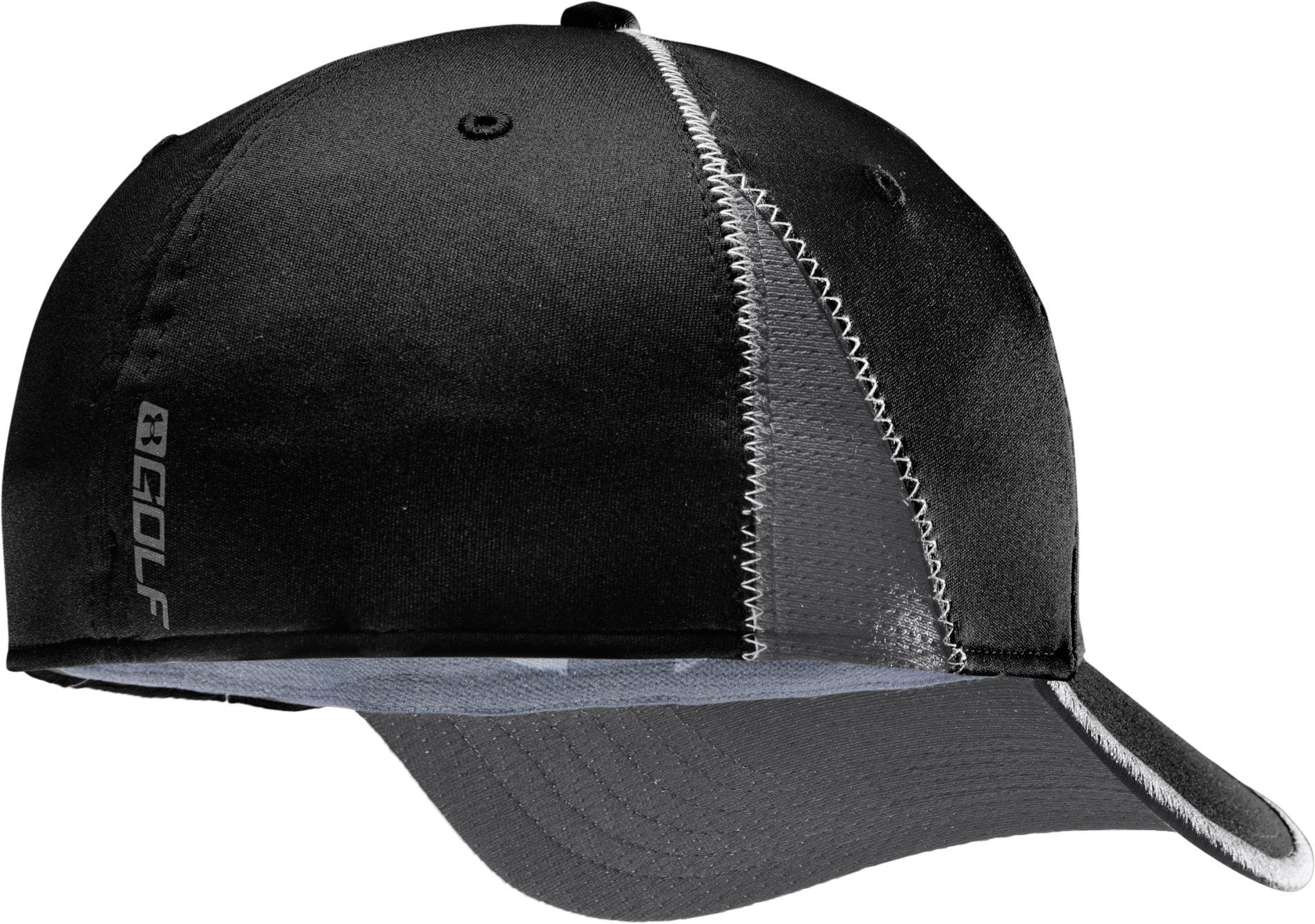 Men's coldblack® Focus Stretch Fit Golf Cap, Black , undefined