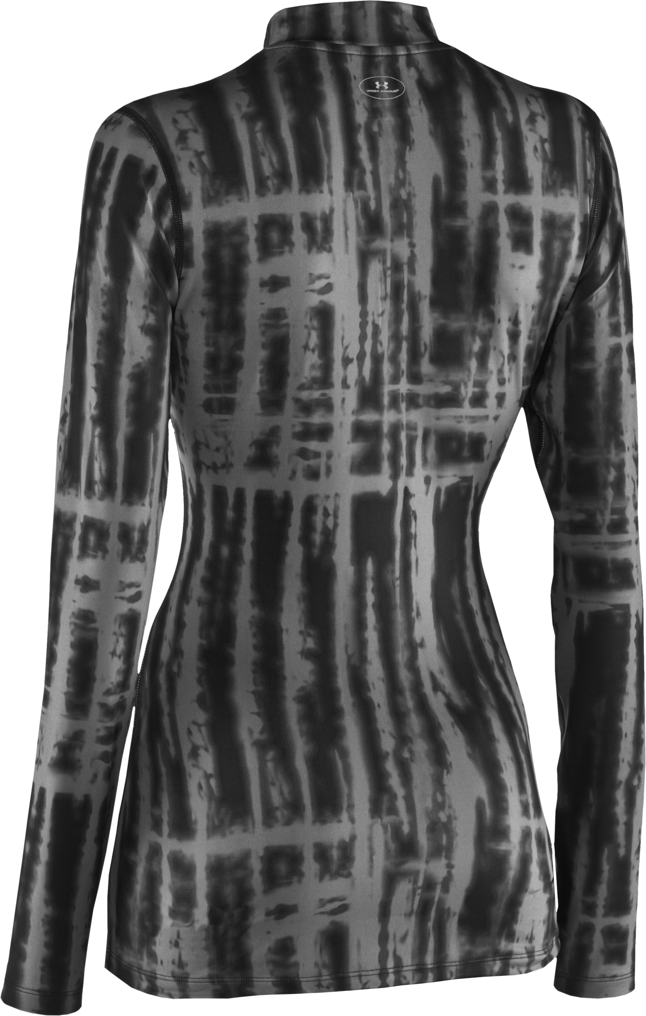 Women's Printed ColdGear® Fitted Mock, Black