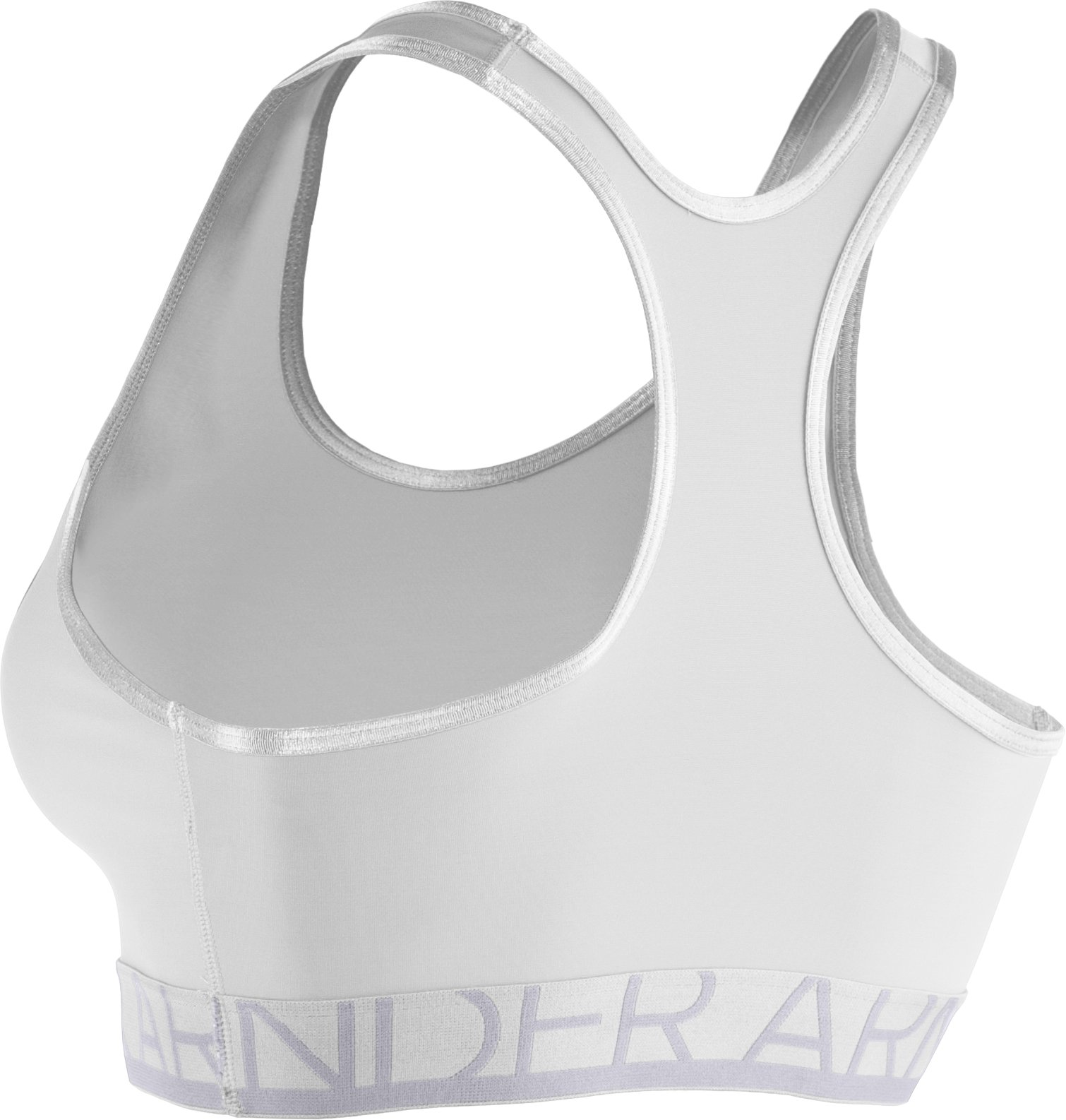 Women's Armour® Mid Sports Bra, White