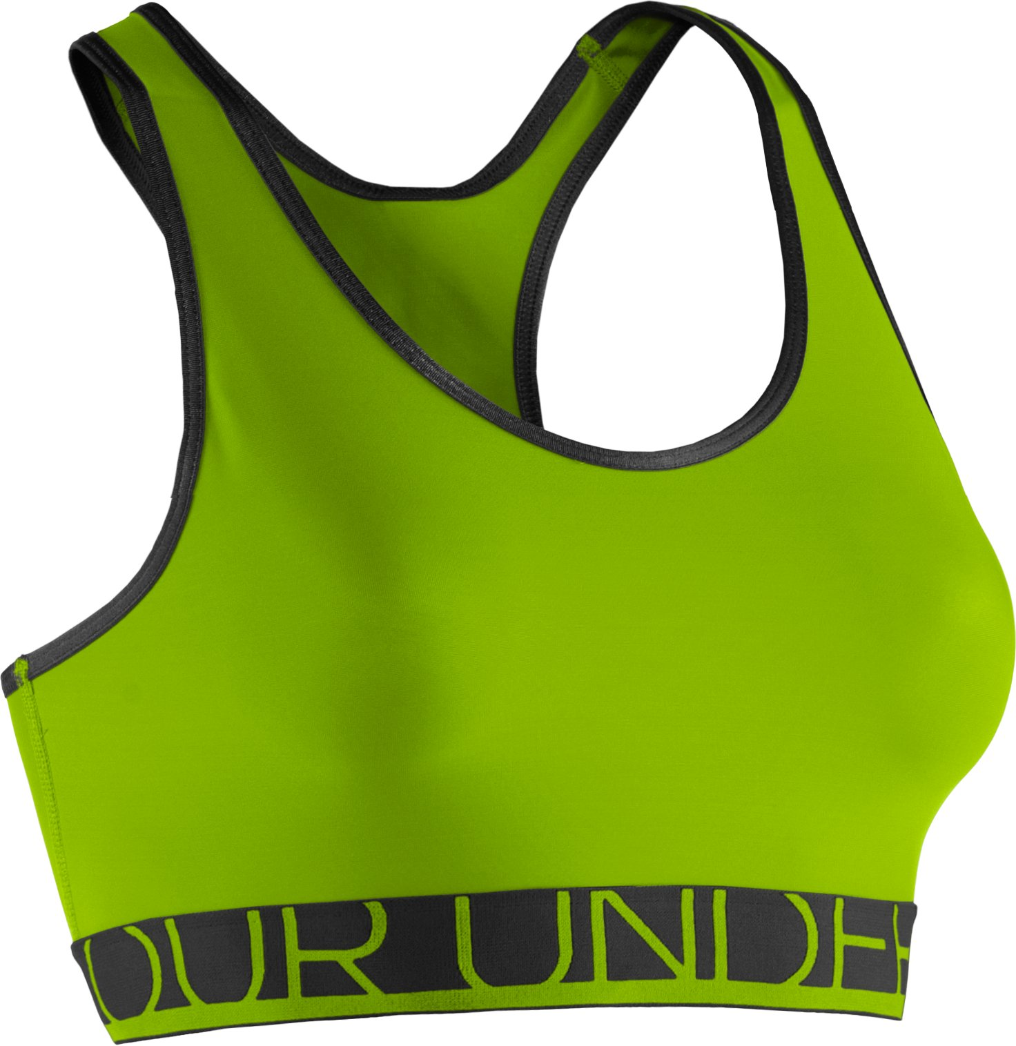 Women's UA HeatGear® Armour Sports Bra, HYPER GREEN