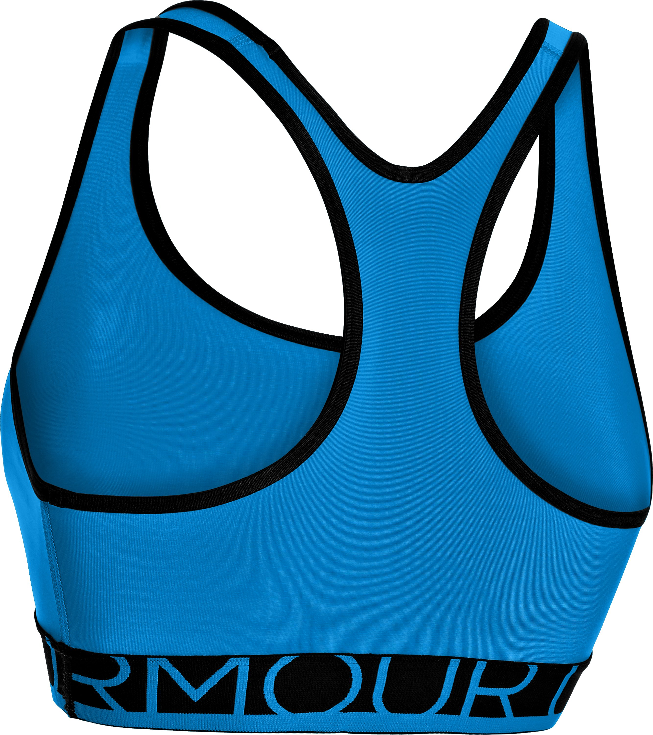 Women's UA HeatGear® Armour Sports Bra, ELECTRIC BLUE