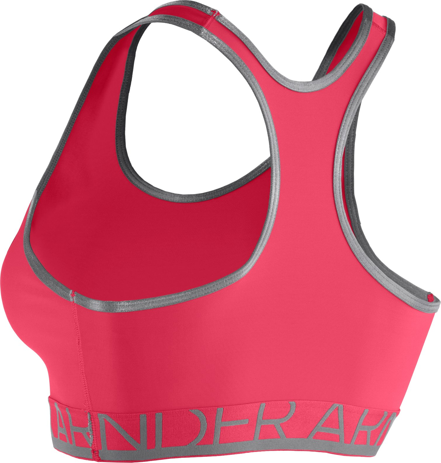 Women's Armour® Mid Sports Bra, Hibiscus