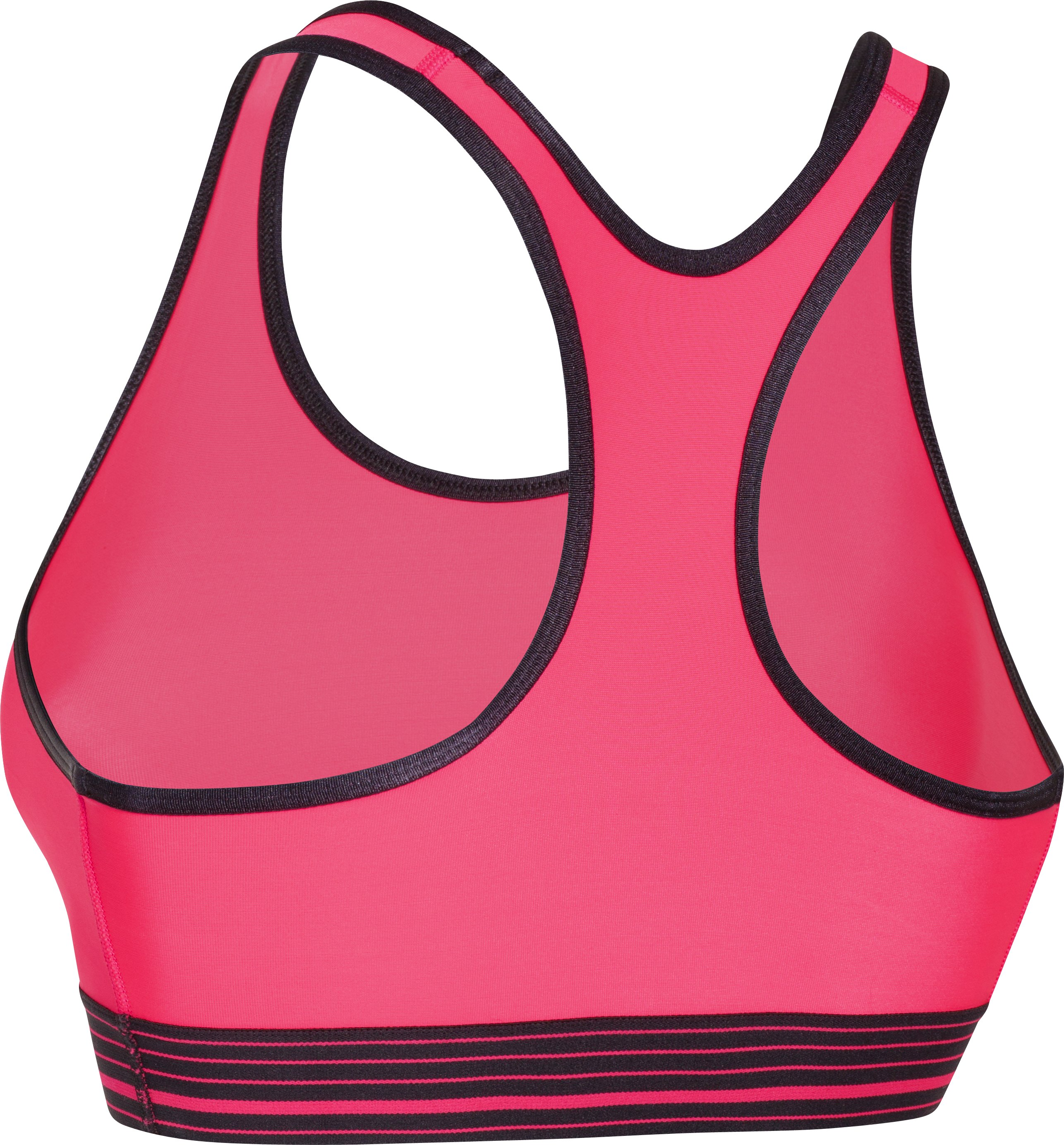 Women's UA HeatGear® Armour Sports Bra, PINK SHOCK