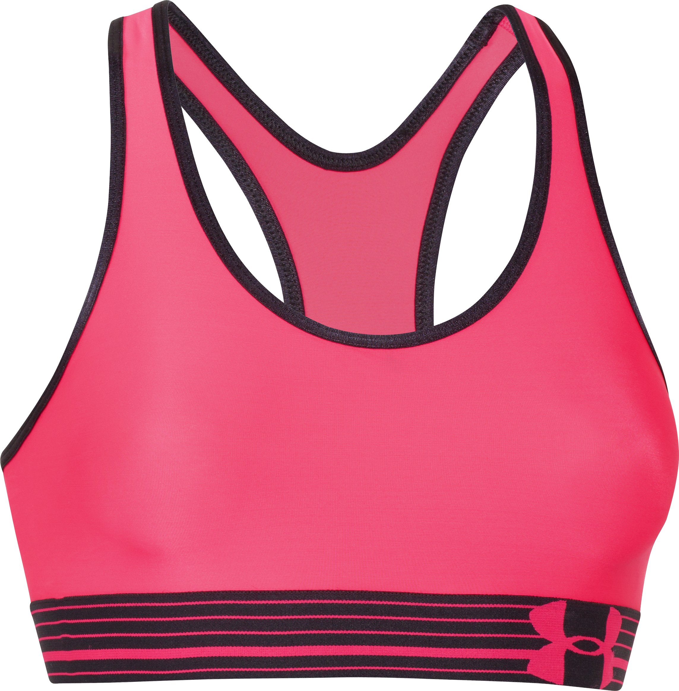 Women's UA HeatGear® Armour Sports Bra, PINK SHOCK, undefined