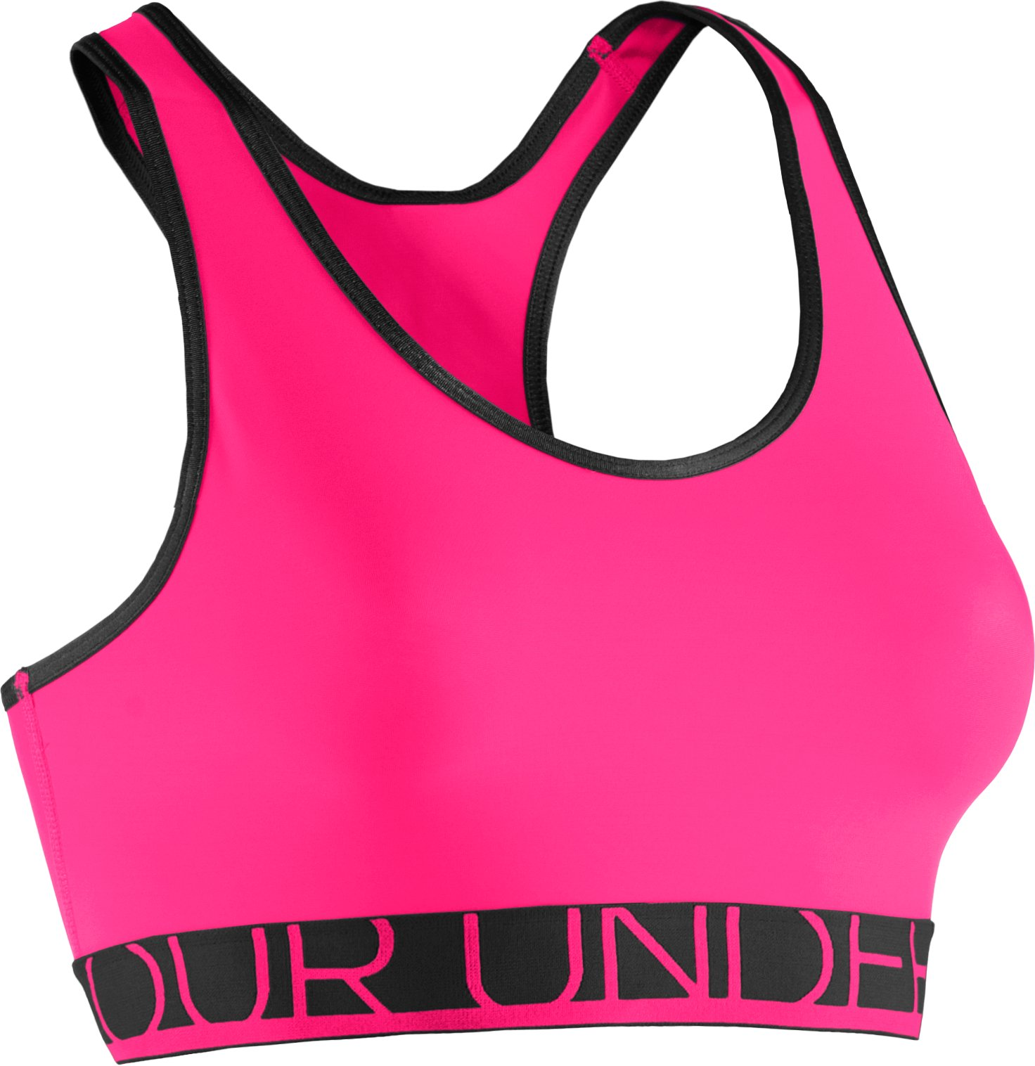 Women's UA HeatGear® Armour Sports Bra, PINKADELIC, undefined