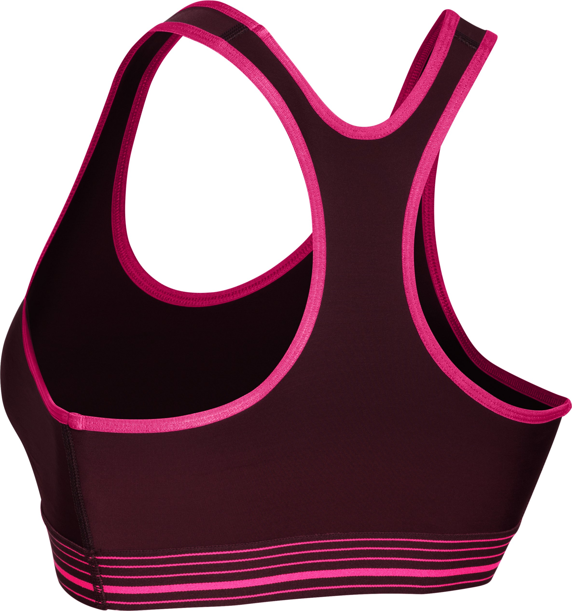 Women's UA HeatGear® Armour Sports Bra, Ox Blood