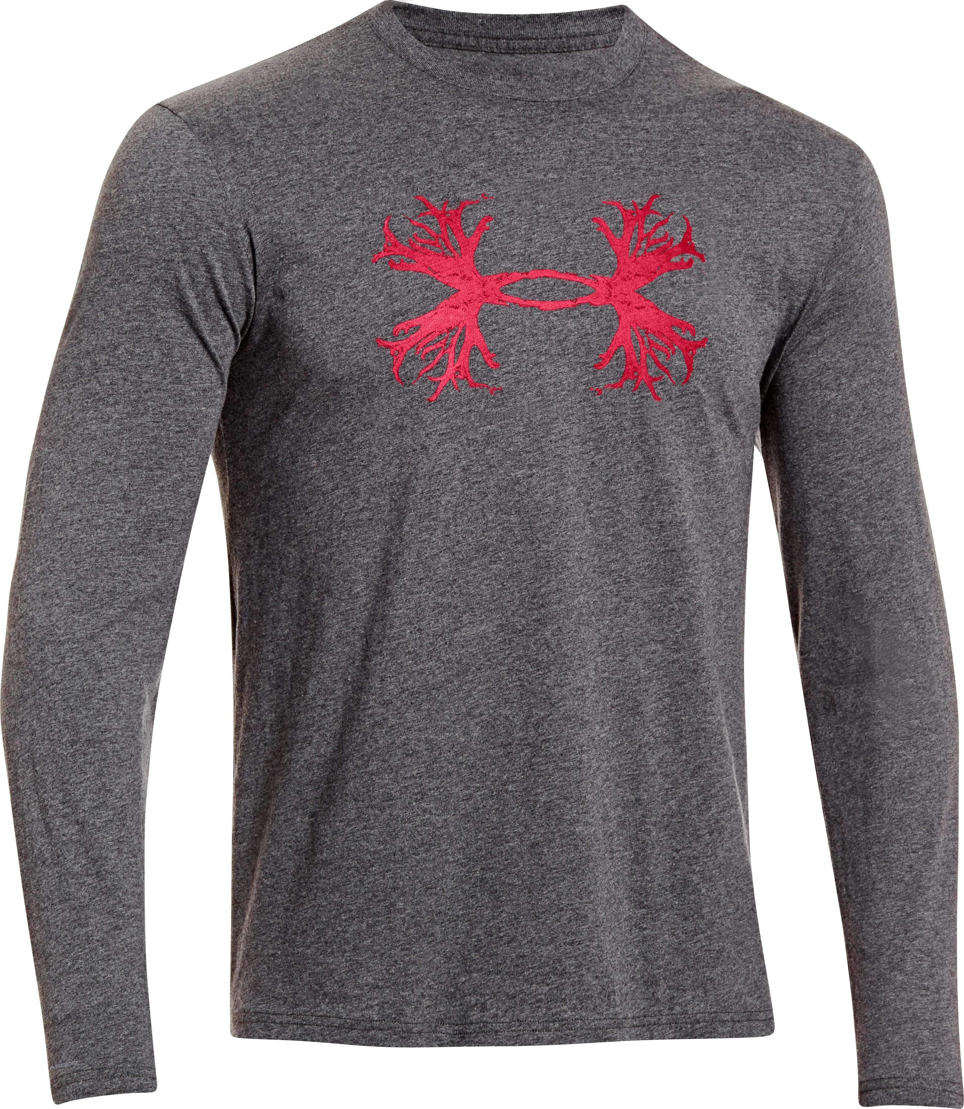 Men's UA Antler Long Sleeve T-Shirt, Carbon Heather