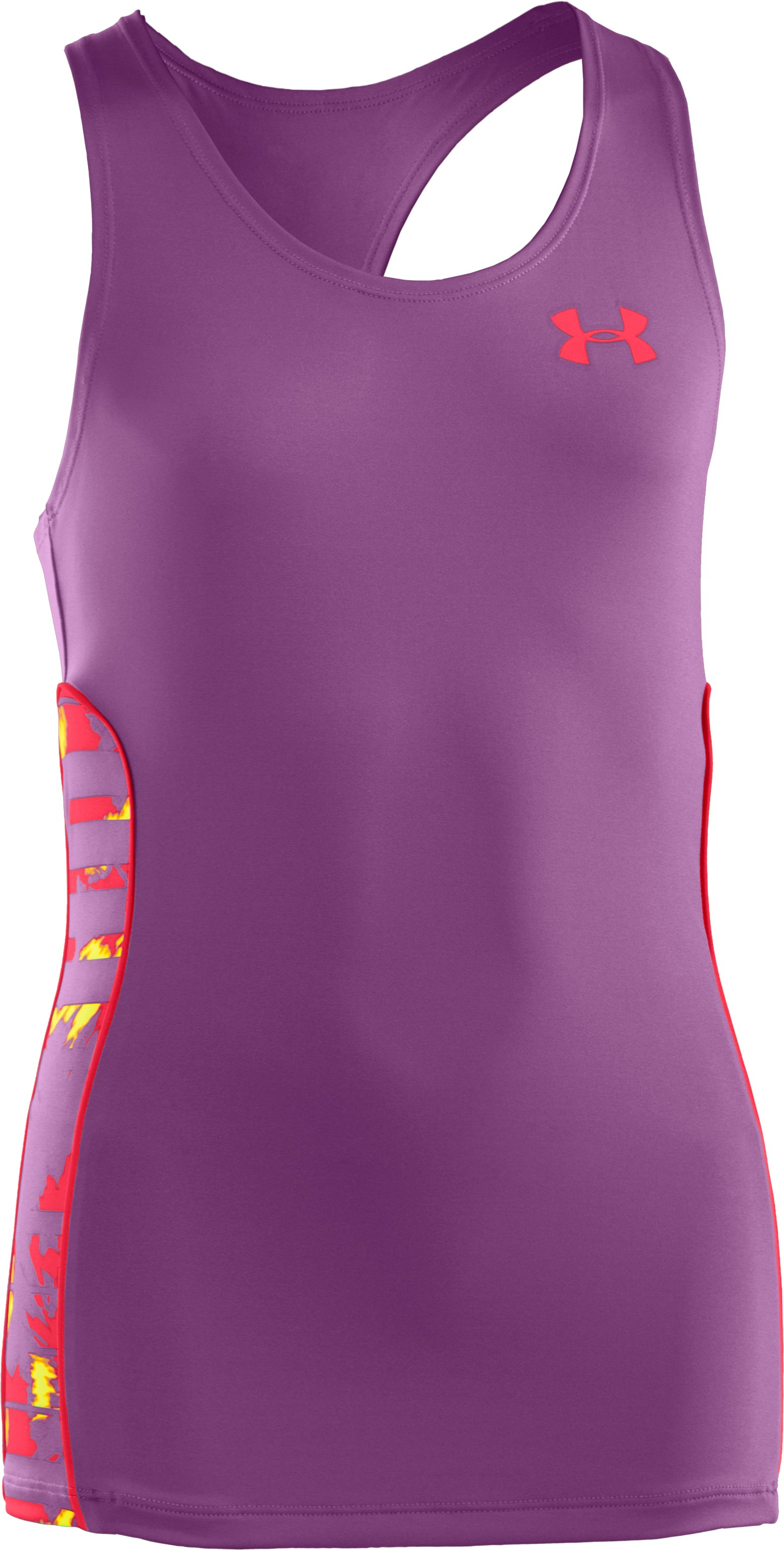 Girls' UA Dazzle Tank, LAVISH,