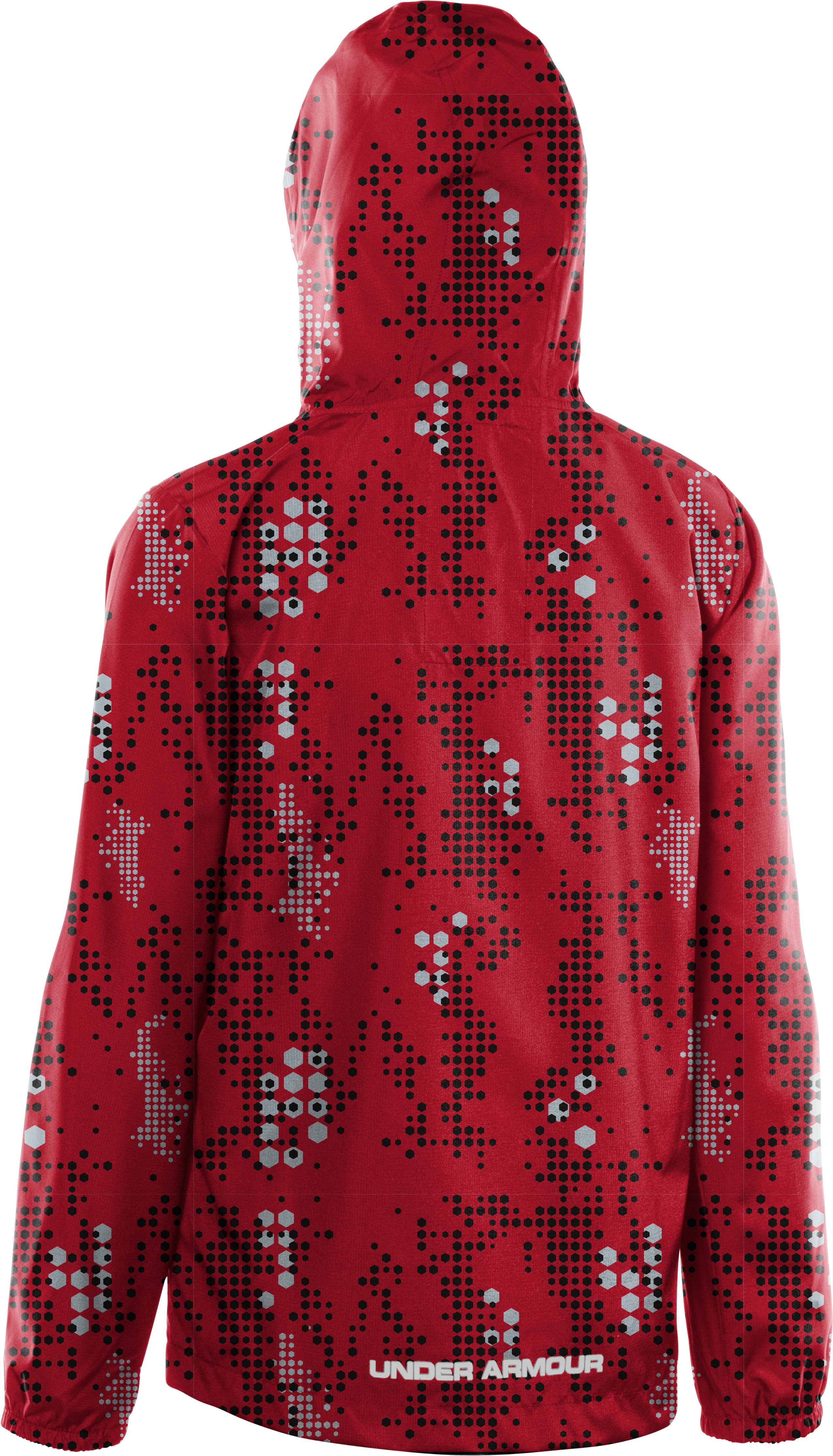 Boys' UA Droplets Jacket, Red, undefined