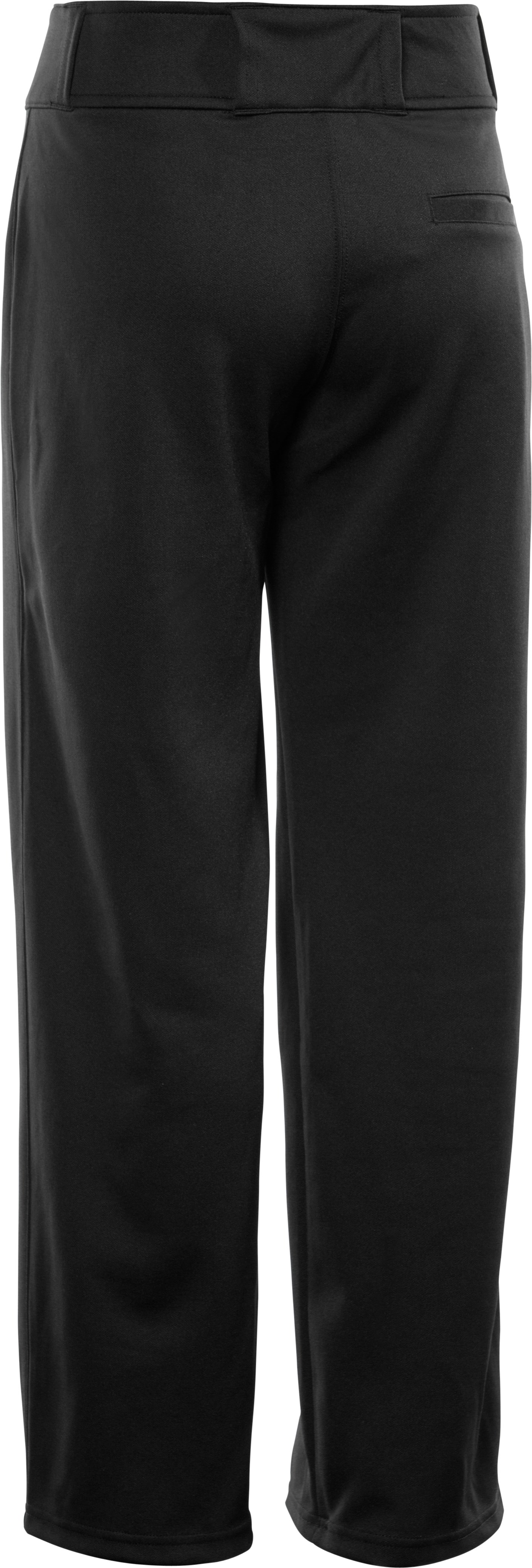 Boys' UA Clean Up Baseball Pants, Black