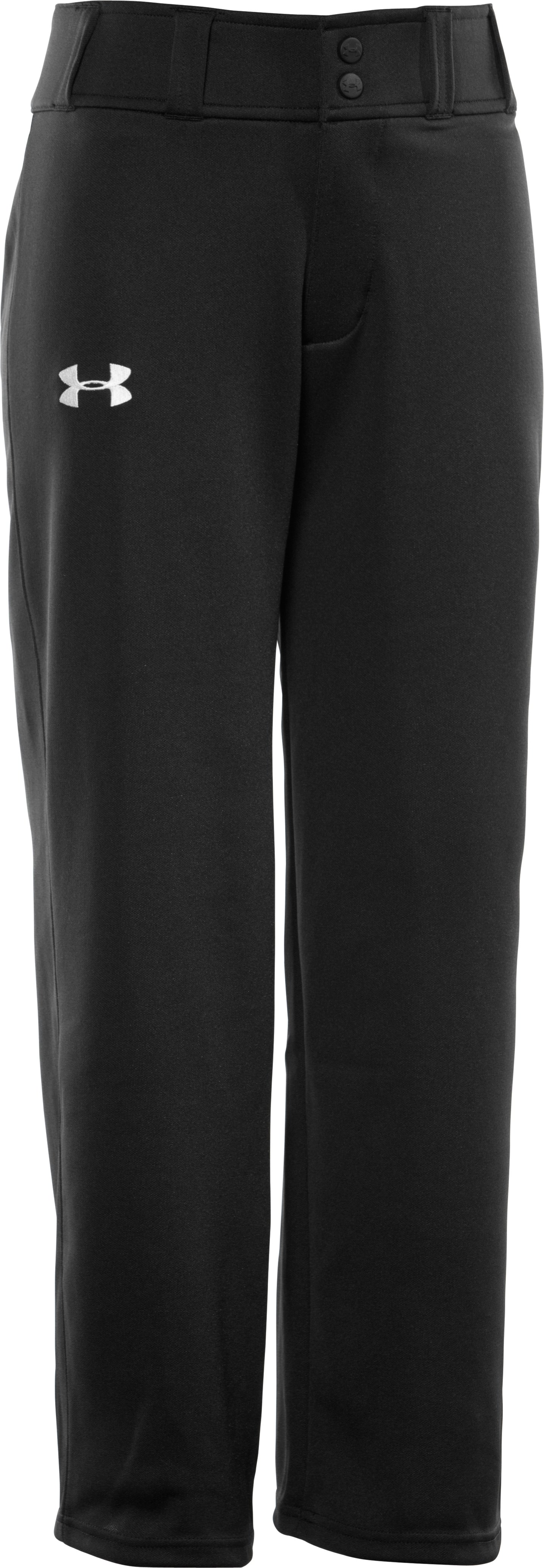 Boys' UA Clean Up Baseball Pants, Black , undefined