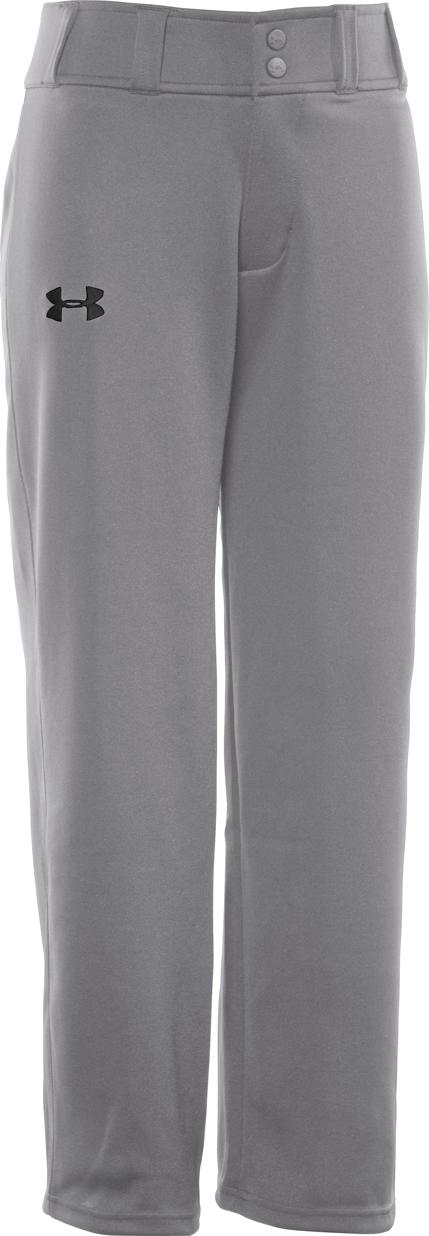 Boys' UA Clean Up Baseball Pants, Baseball Gray, zoomed image