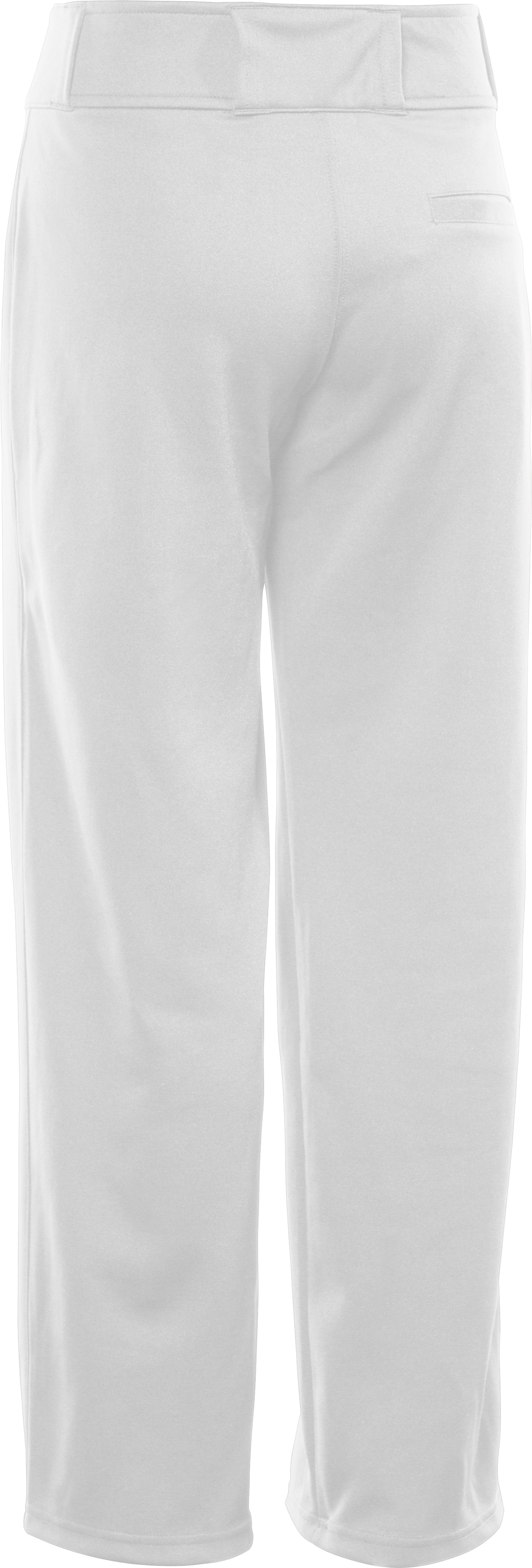 Boys' UA Clean Up Baseball Pants, White