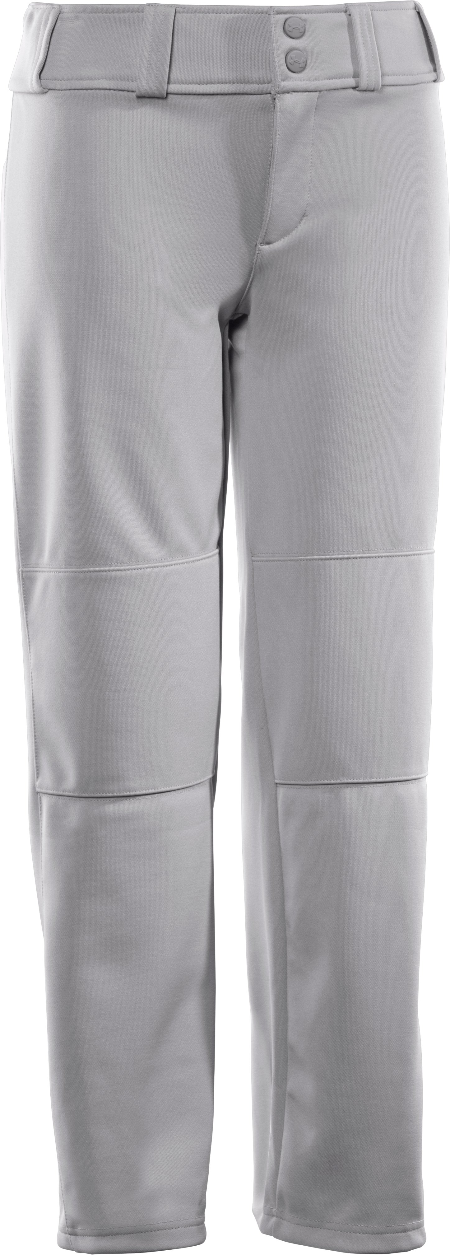 Boys' UA Leadoff Baseball Pants, Baseball Gray