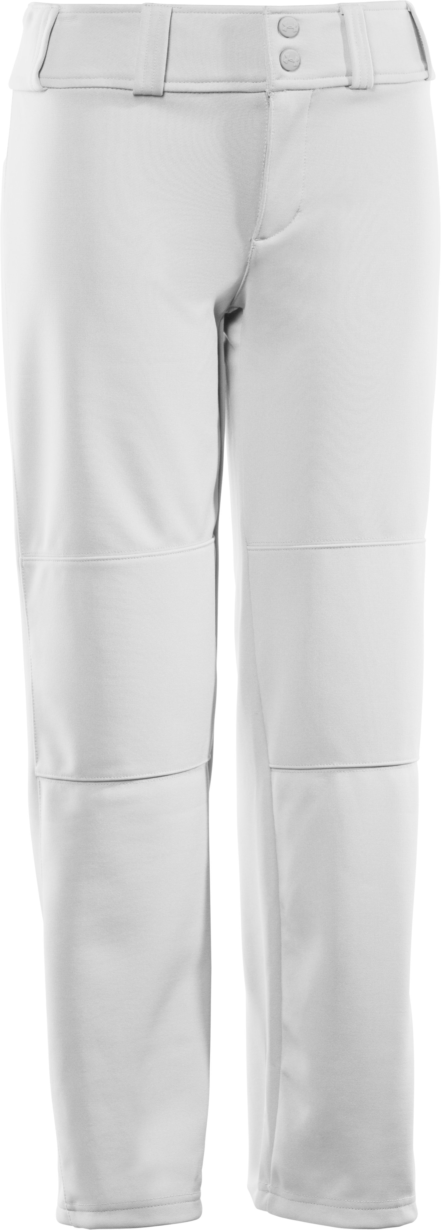 Boys' UA Lead Off Baseball Pants, White, zoomed image