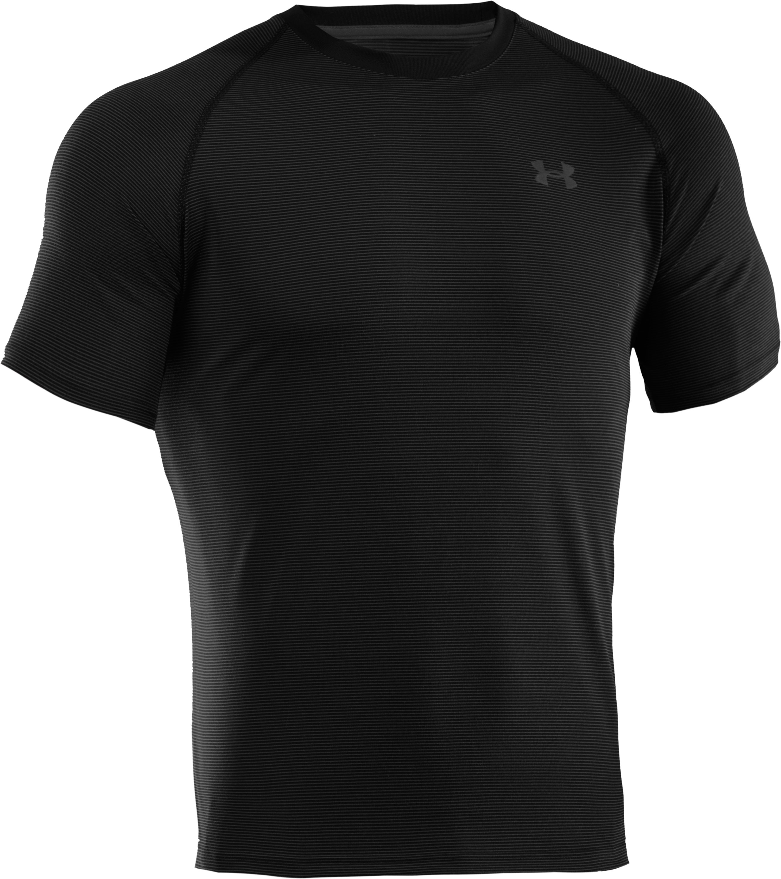 Men's UA Tech™ Microstripe T-Shirt, Black