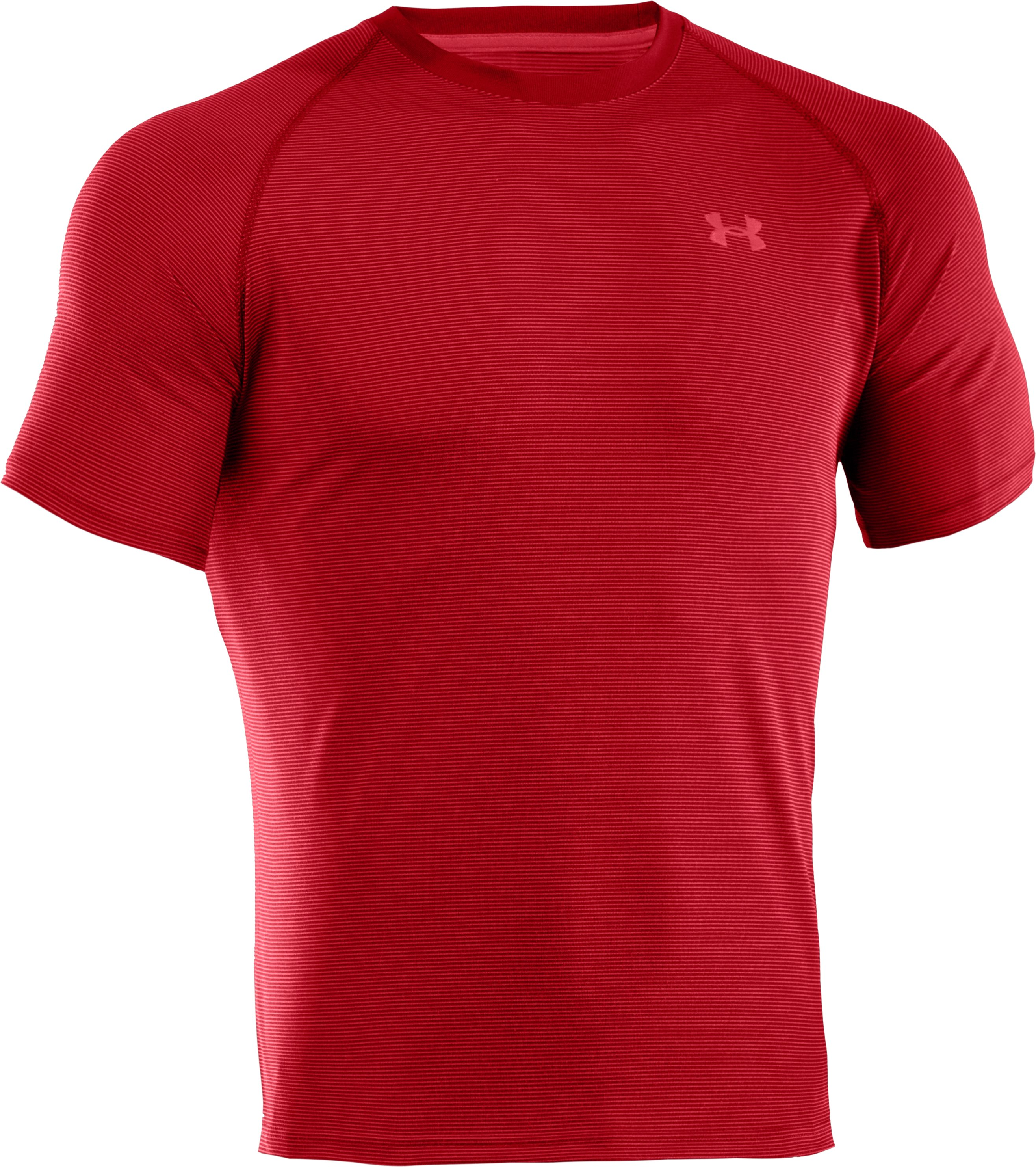Men's UA Tech™ Microstripe T-Shirt, Red