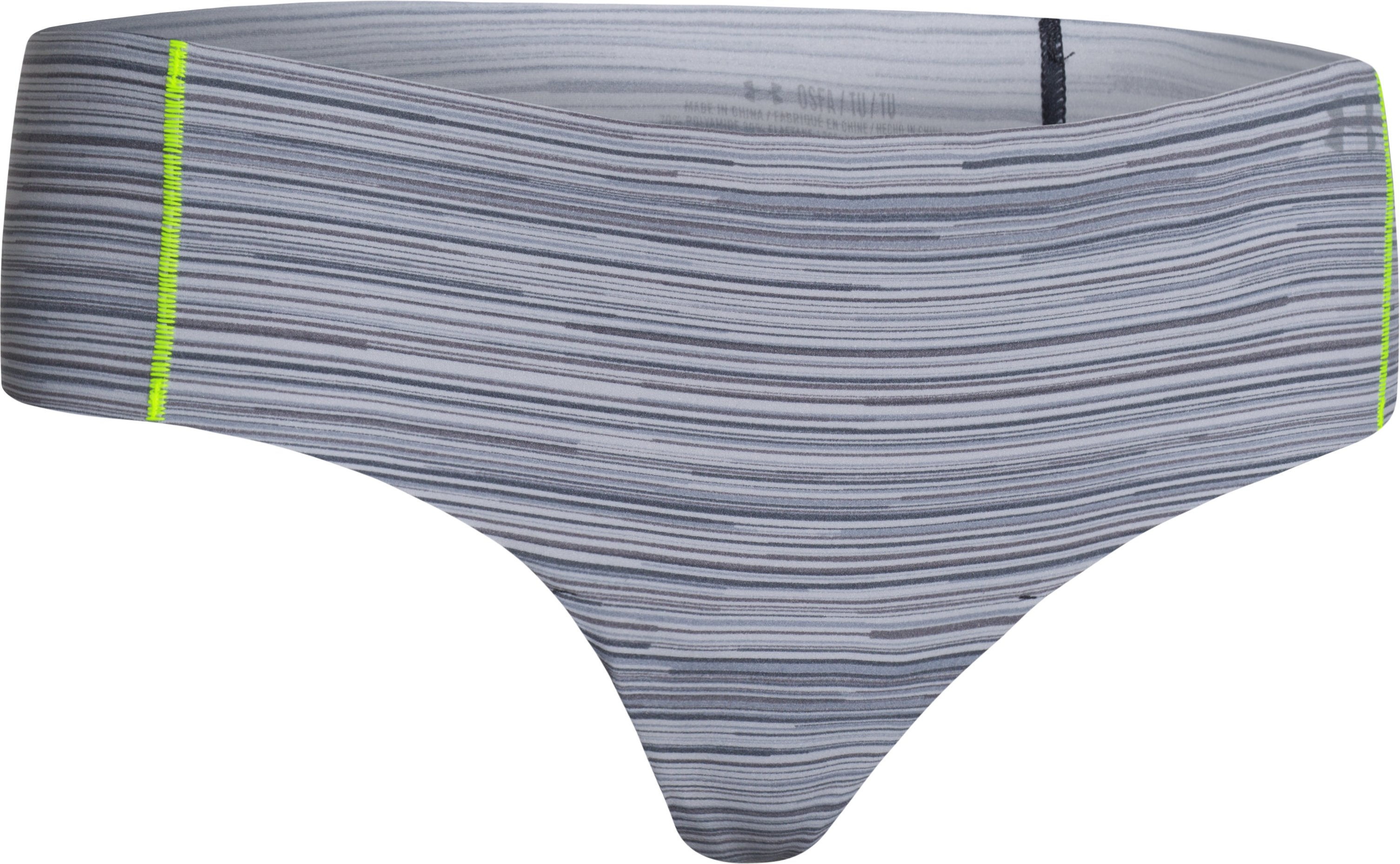 Women's UA Pure Stretch Cheeky, Steel, zoomed image