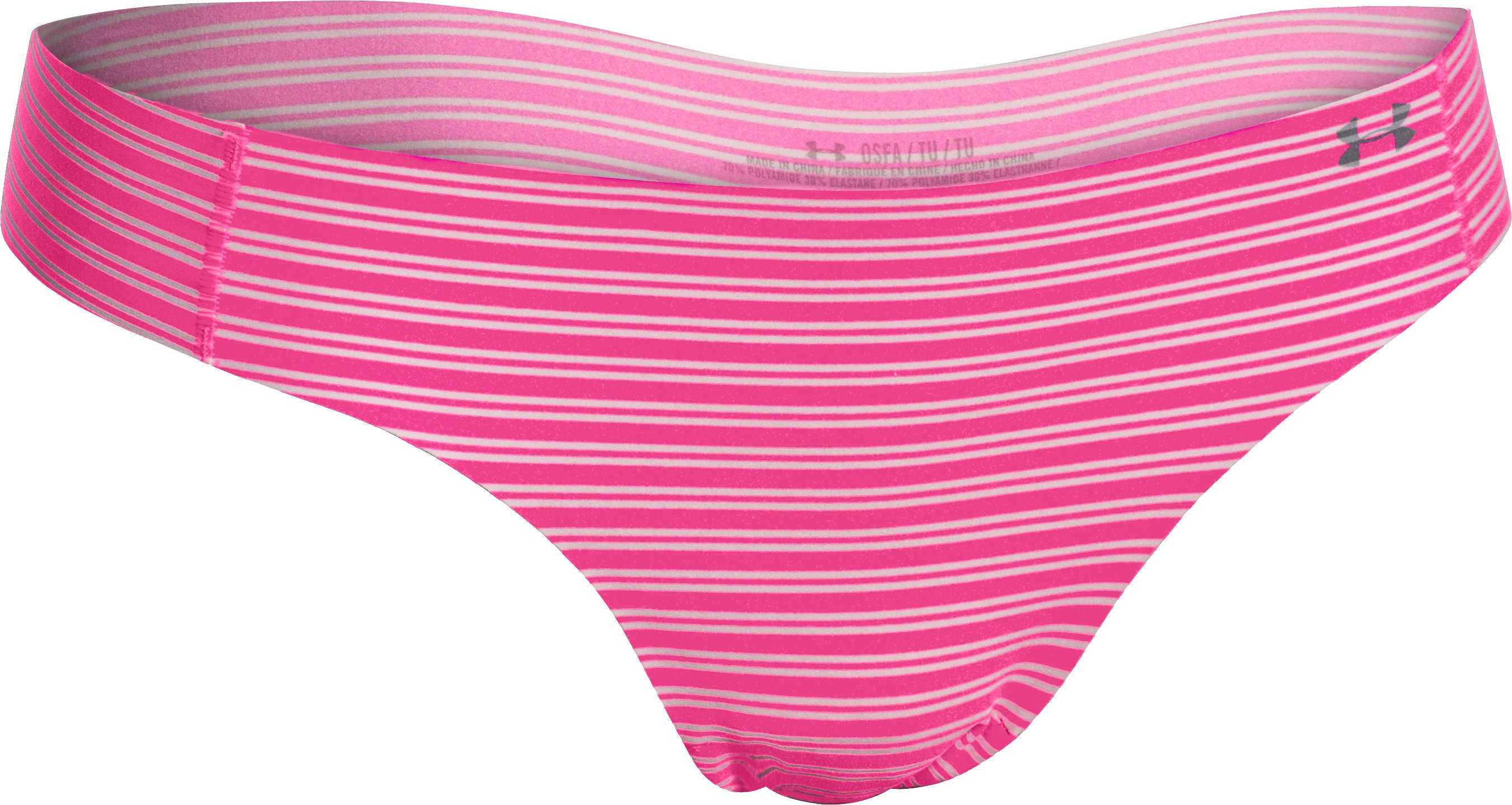 Women's UA Pure Stretch Thong, REBEL PINK