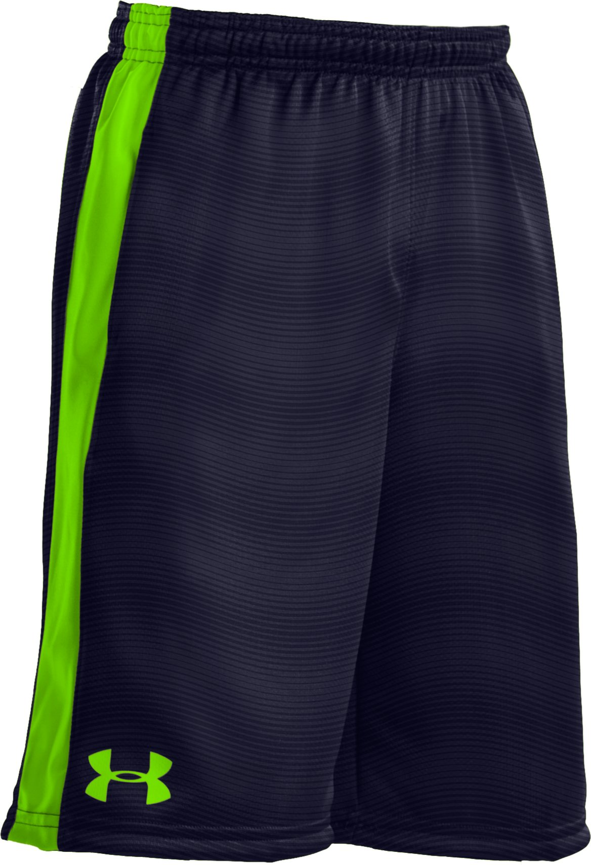 "Boys' UA Ultimate Embossed 9"" Shorts, Midnight Navy, zoomed image"