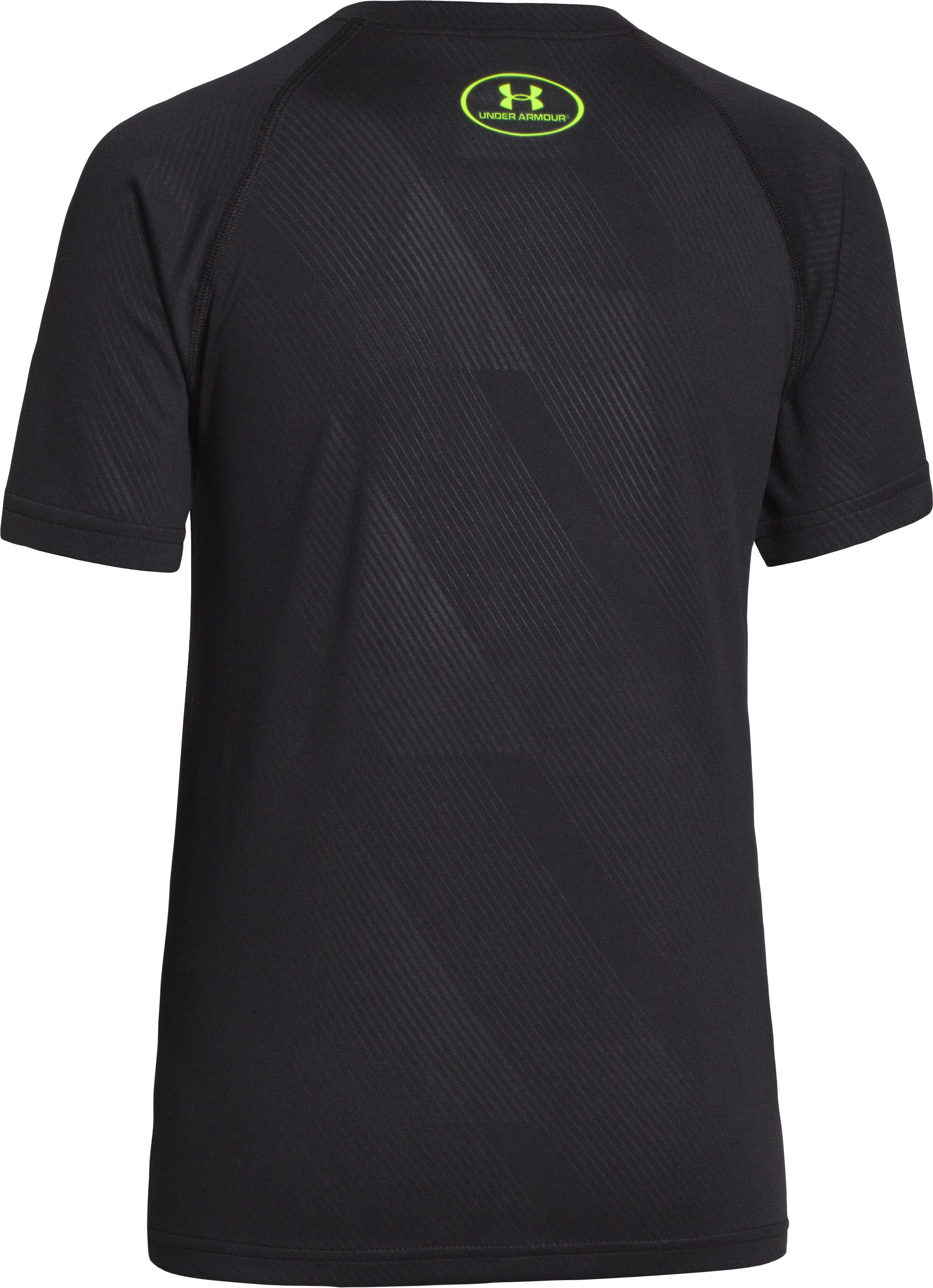 Boys' UA Big Logo Embossed T-Shirt, Black , undefined