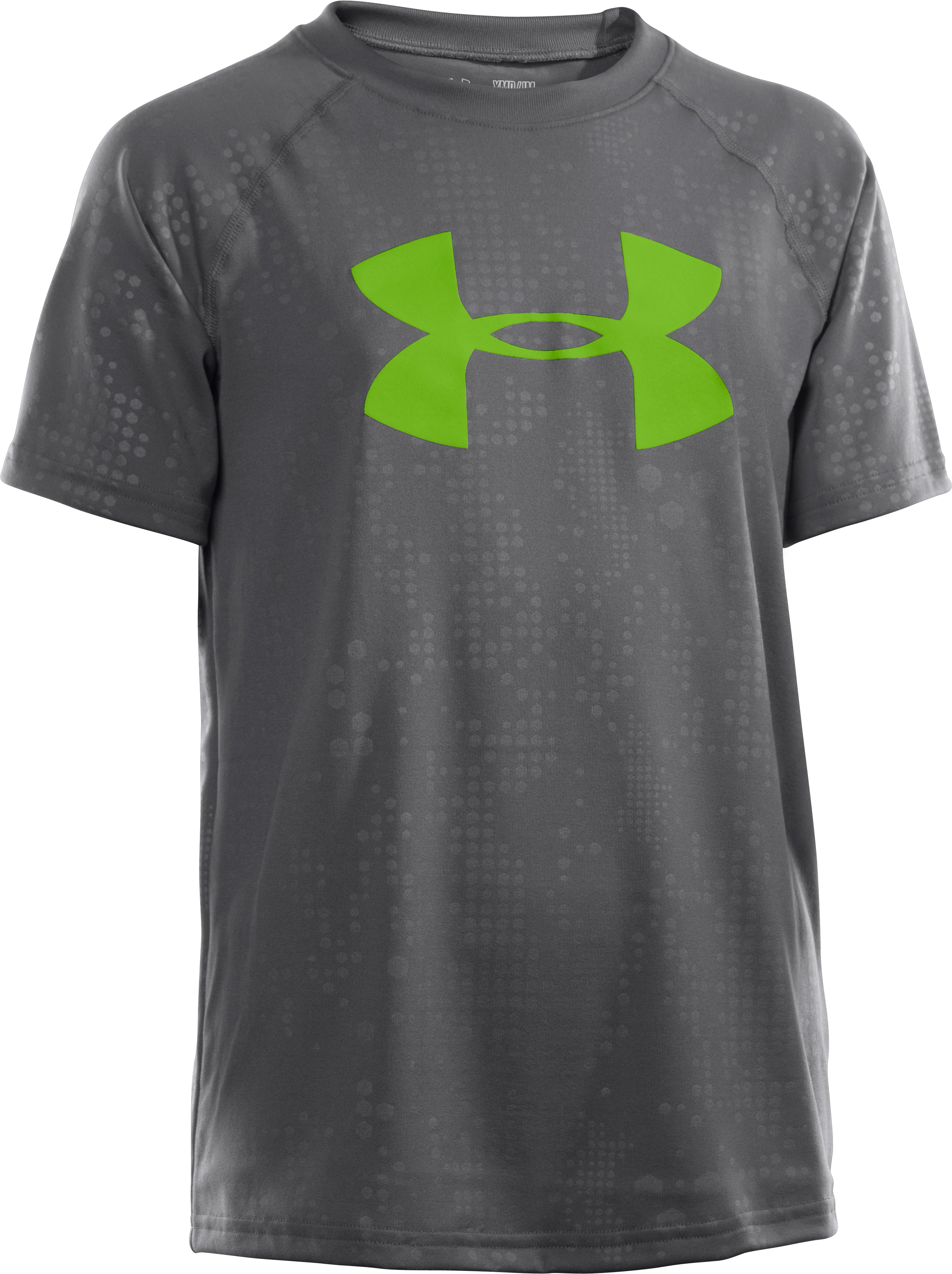 Boys' UA Big Logo Embossed T-Shirt, Graphite, zoomed image