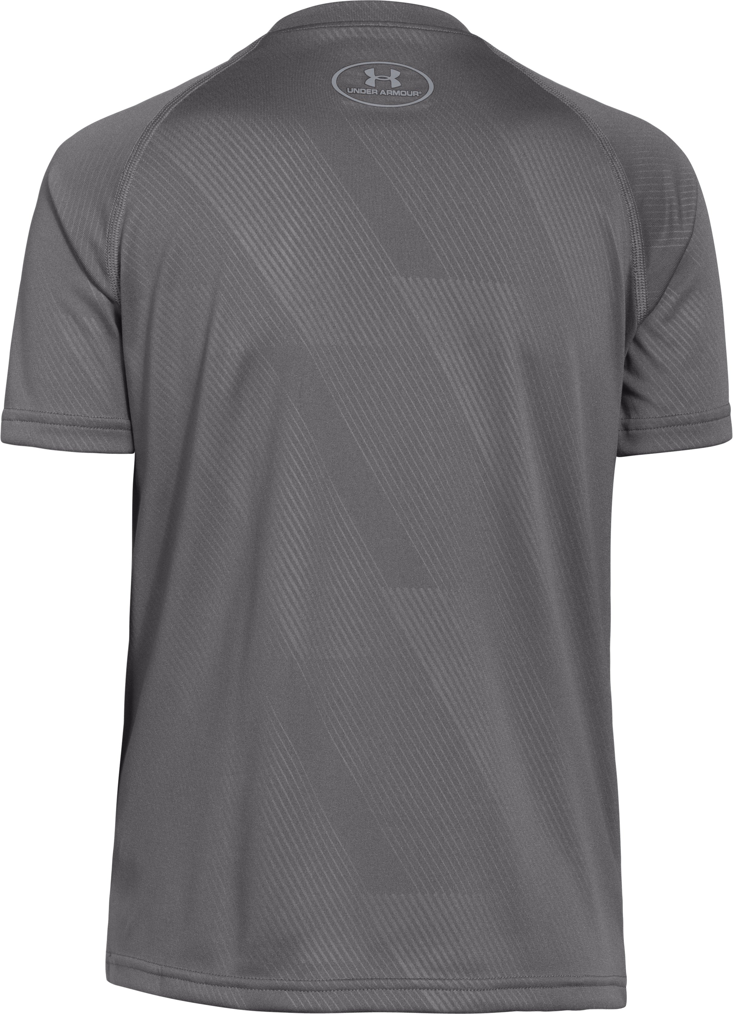 Boys' UA Big Logo Embossed T-Shirt, Graphite,