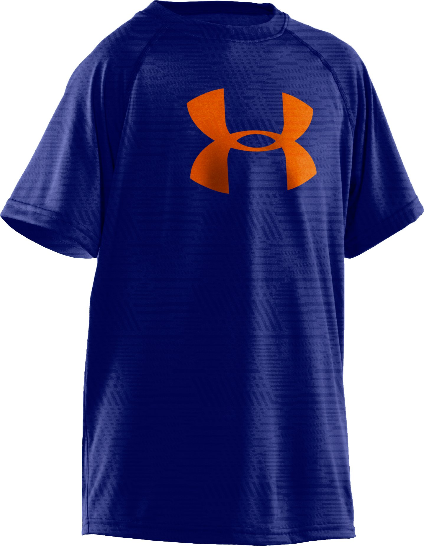 Boys' UA Big Logo Embossed T-Shirt, Royal, zoomed image