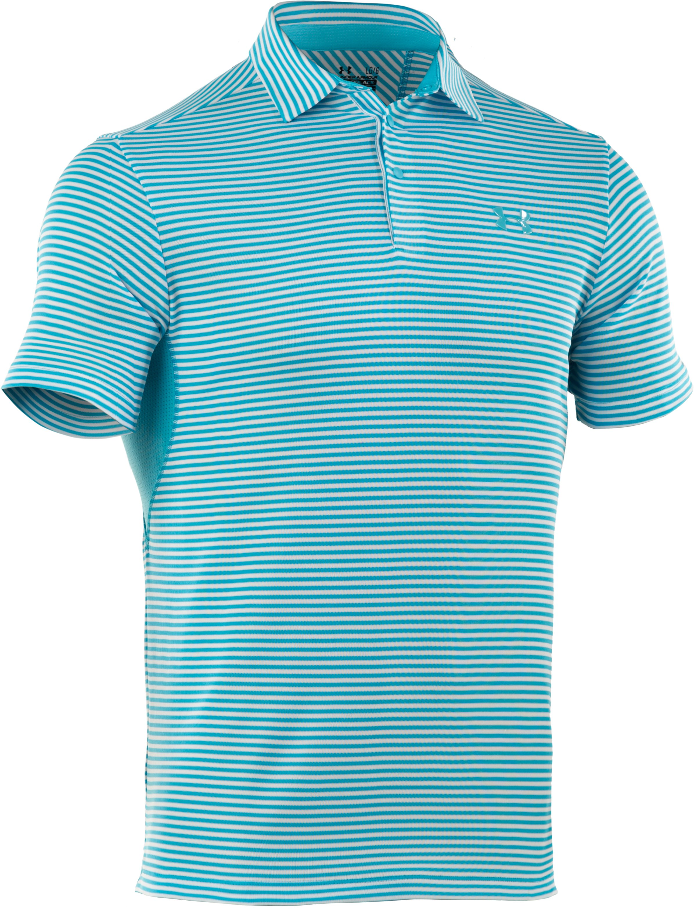 Men's coldblack® Optic Stripe Polo, Cortez