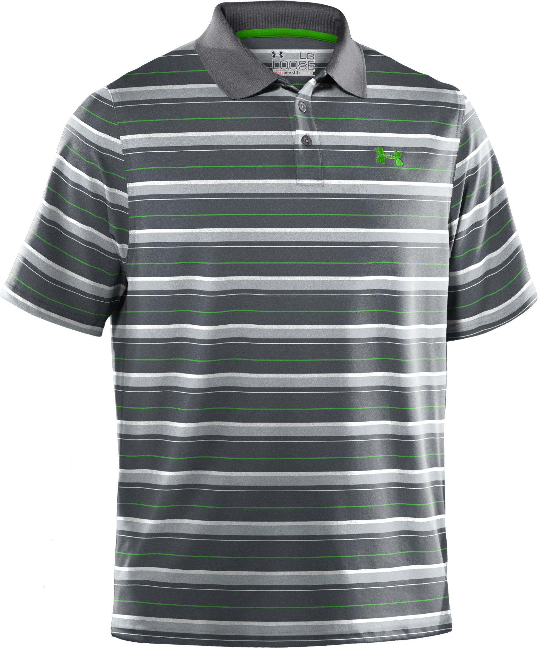 Men's UA Performance Heathered Stripe Polo, Graphite