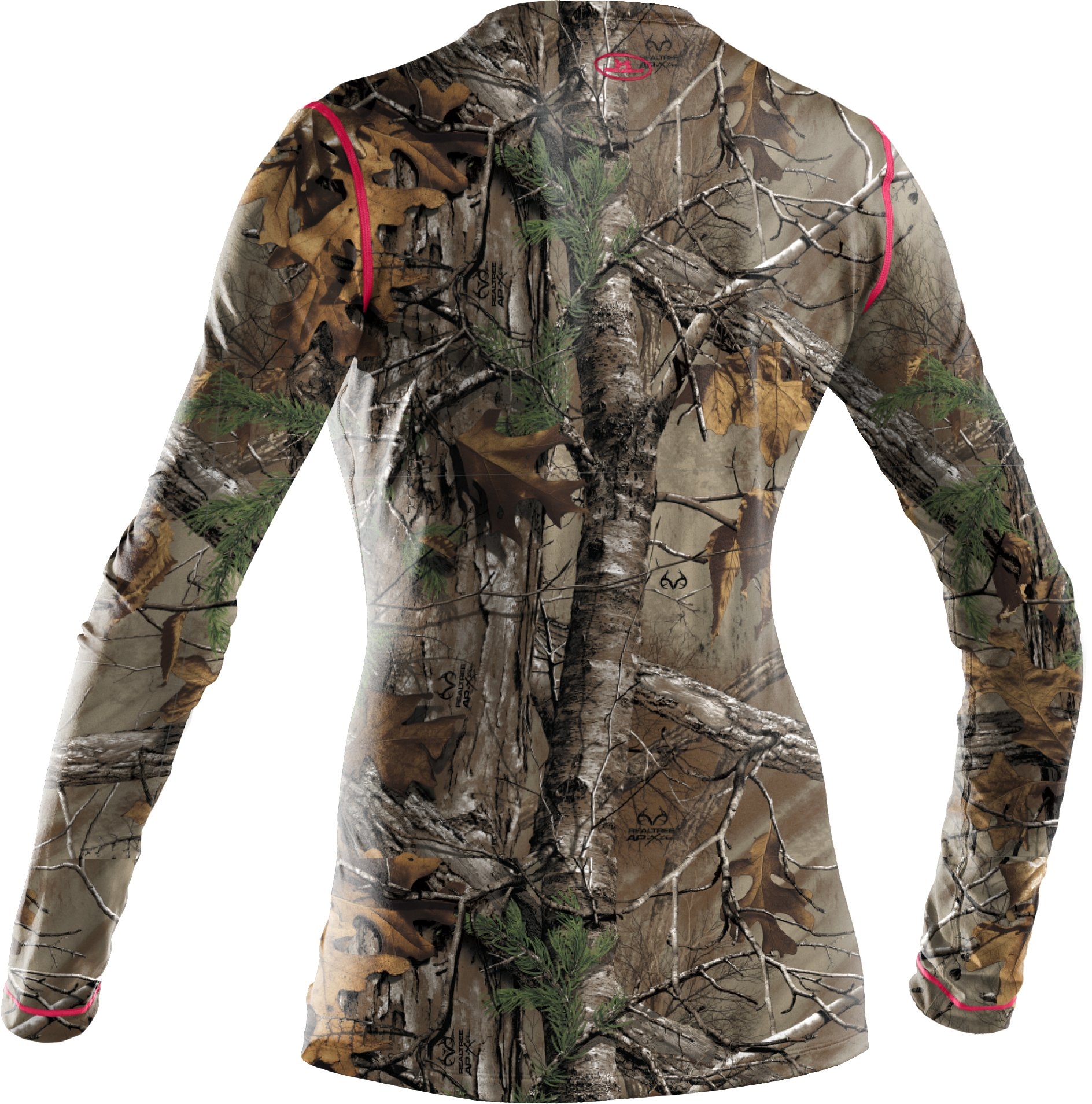 Women's HeatGear® EVO Camo Long Sleeve, REALTREE AP-XTRA,