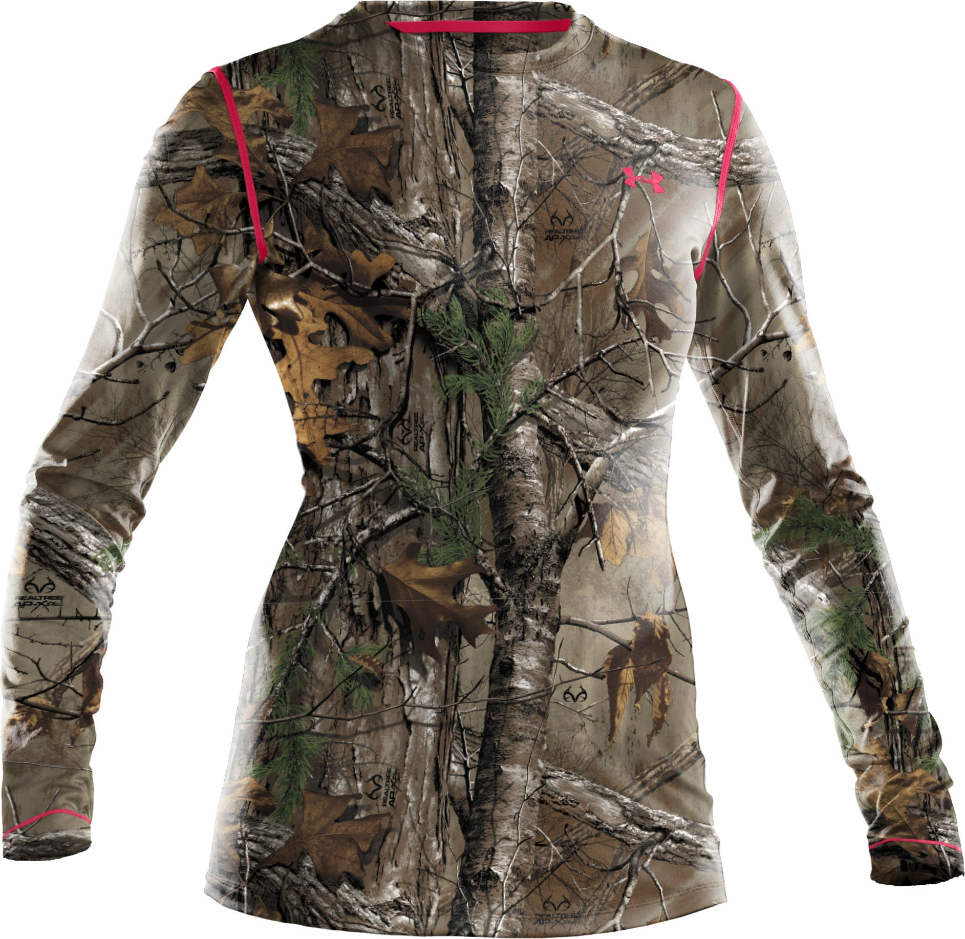 Women's HeatGear® EVO Camo Long Sleeve, REALTREE AP-XTRA