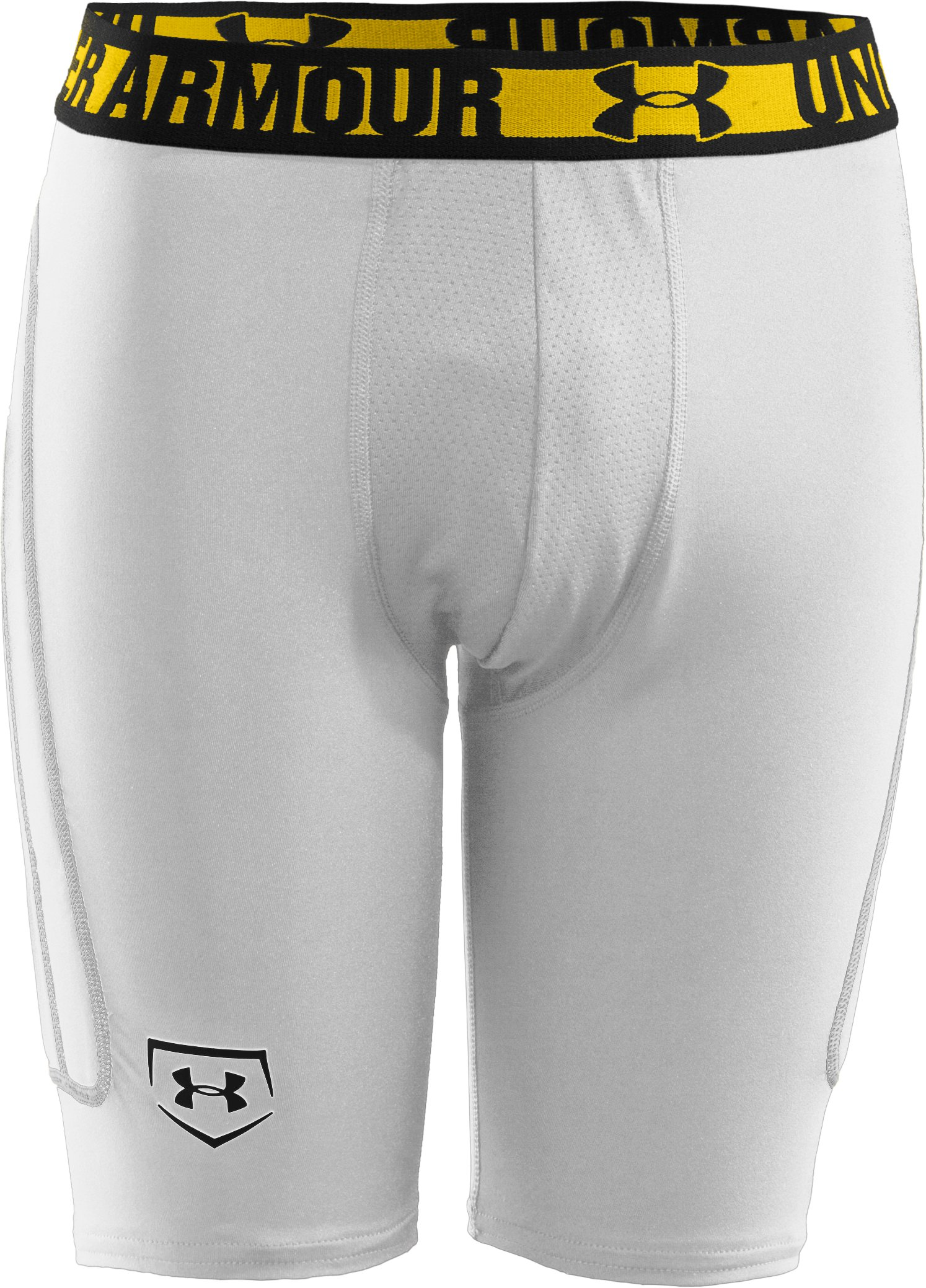 Boys' UA Break Over Baseball Slider, White, zoomed image