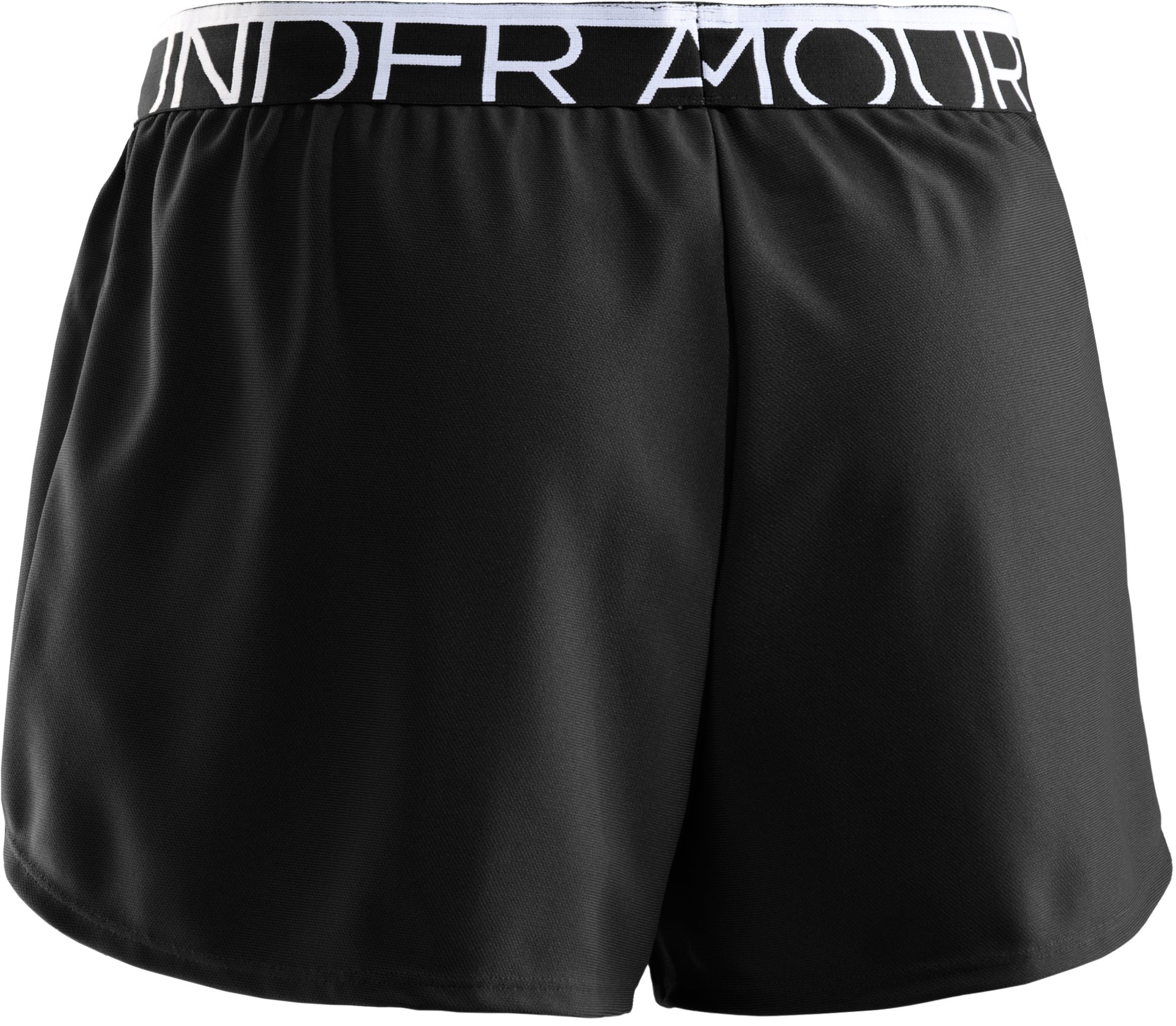 Women's UA Play Up Shorts, Black , undefined