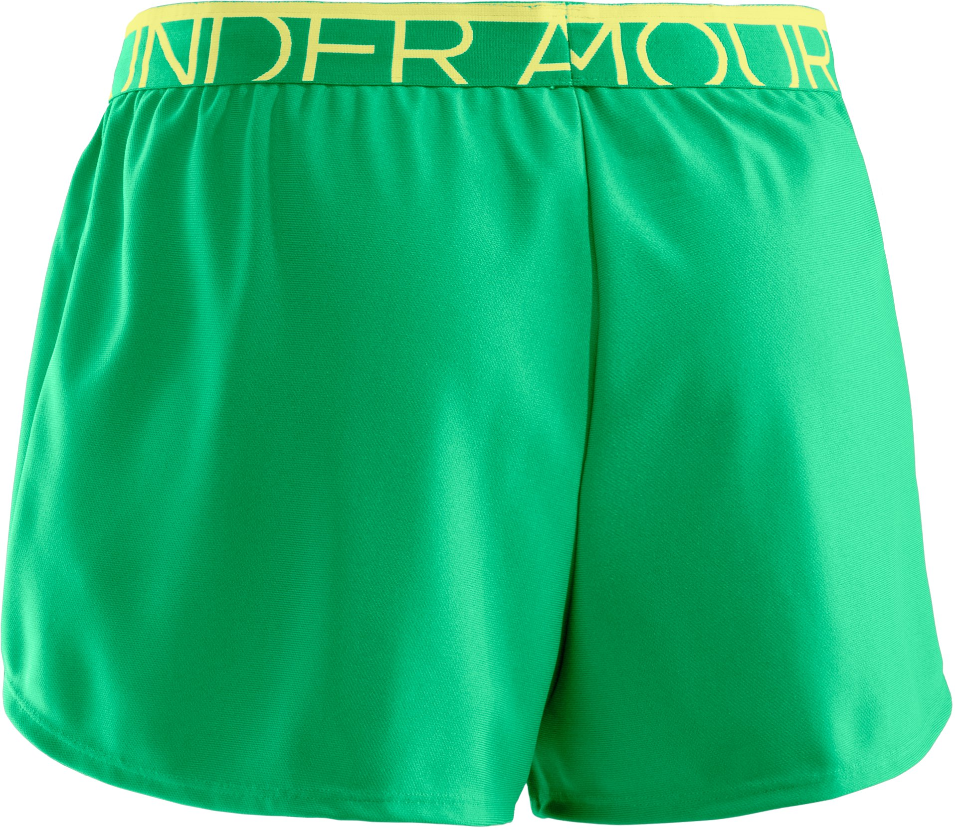 Women's UA Play Up Shorts, CHLOROPHYLL, undefined