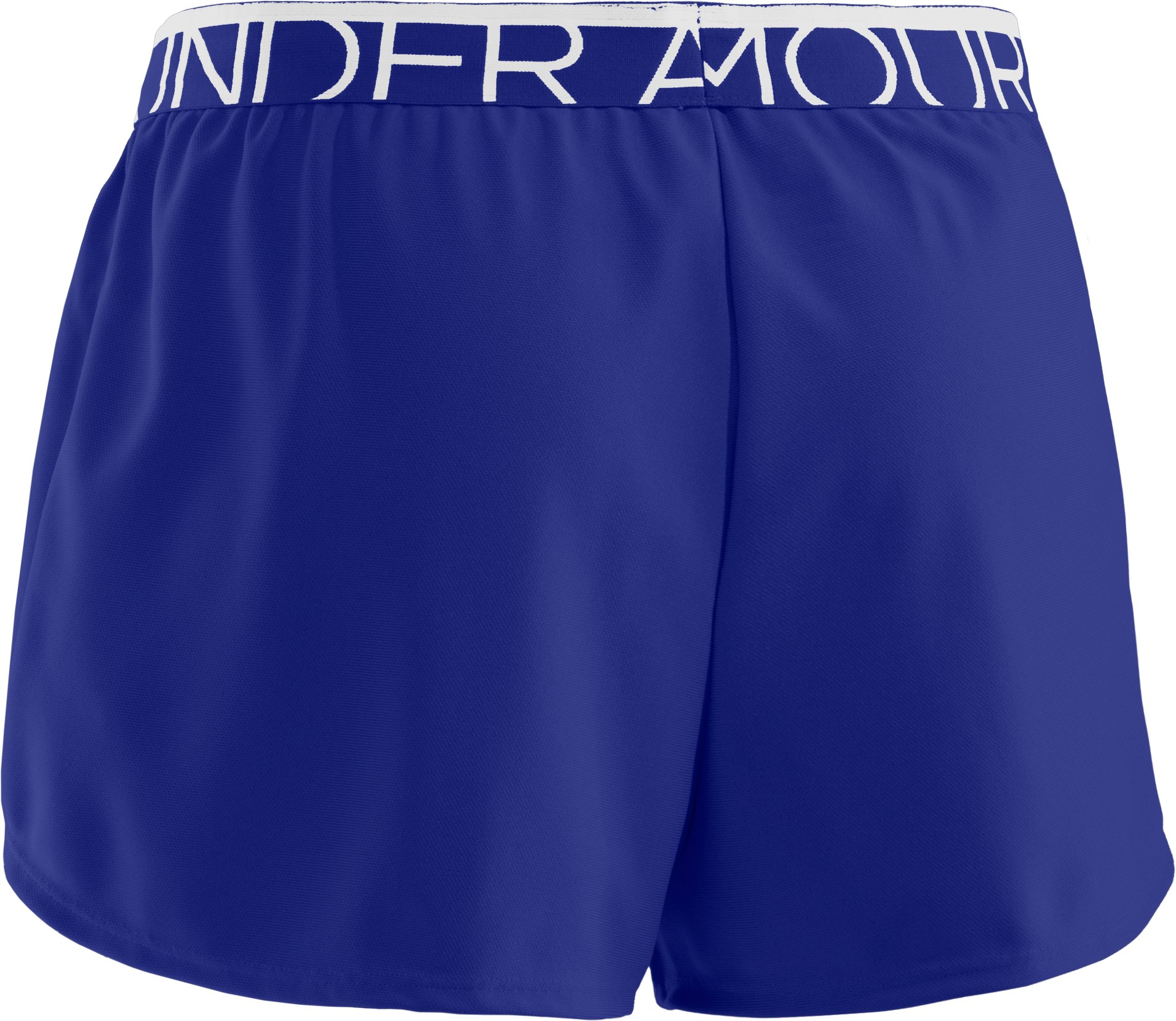 Women's UA Play Up Shorts, SIBERIAN IRIS, undefined