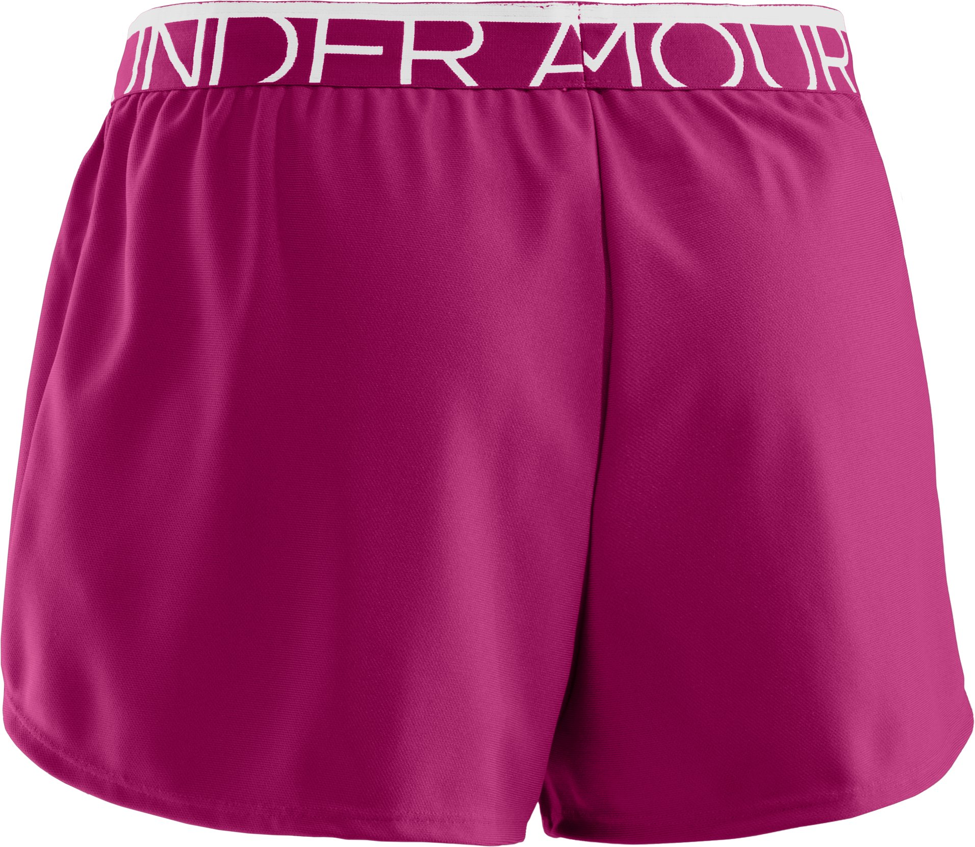 Women's UA Play Up Shorts, Aubergine