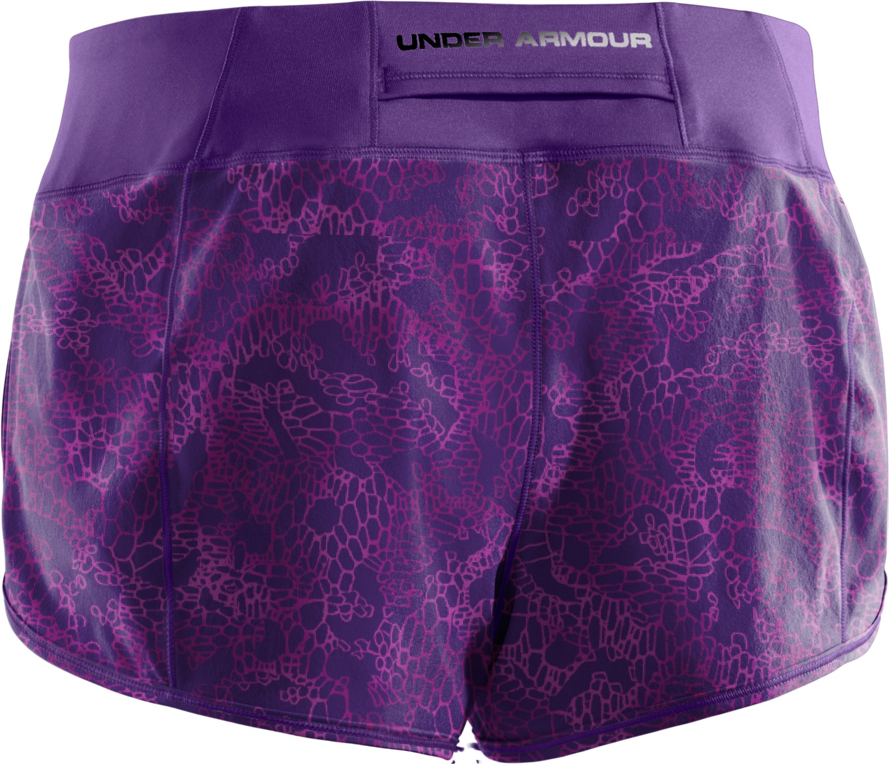 Women's UA Get Set Go Printed Shorts, Purple Rain
