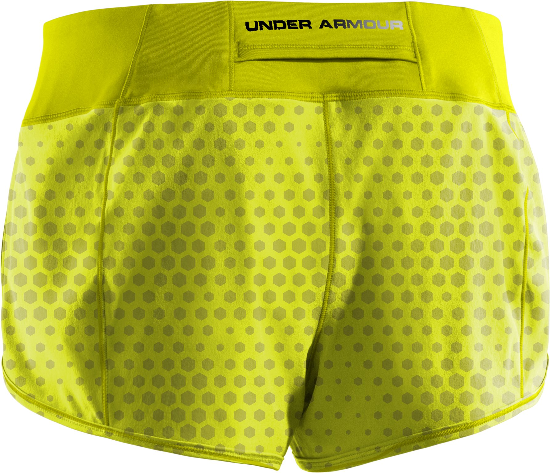 Women's UA Get Set Go Printed Shorts, High-Vis Yellow, undefined