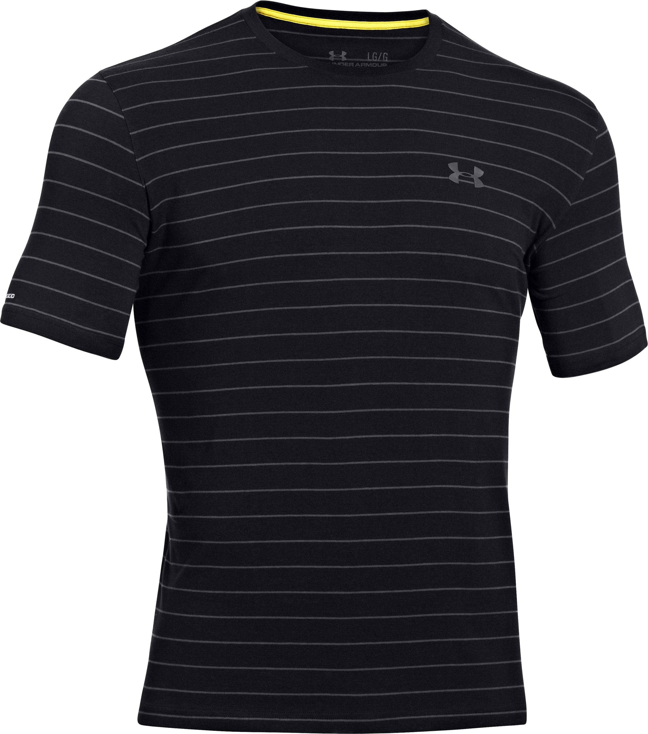 Men's Charged Cotton® Pinstripe T-Shirt, Black