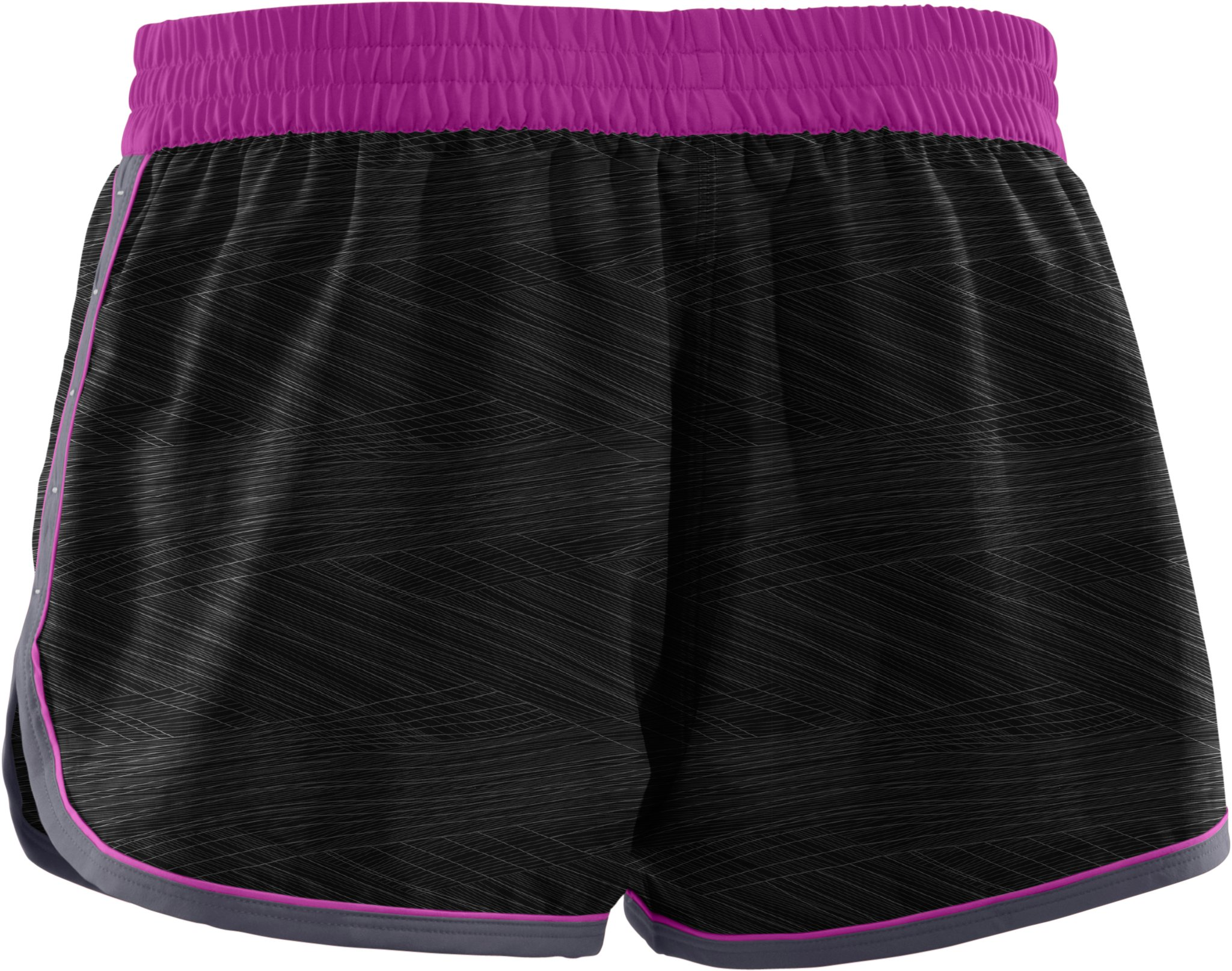 Women's UA Great Escape Printed Shorts II, Black , undefined