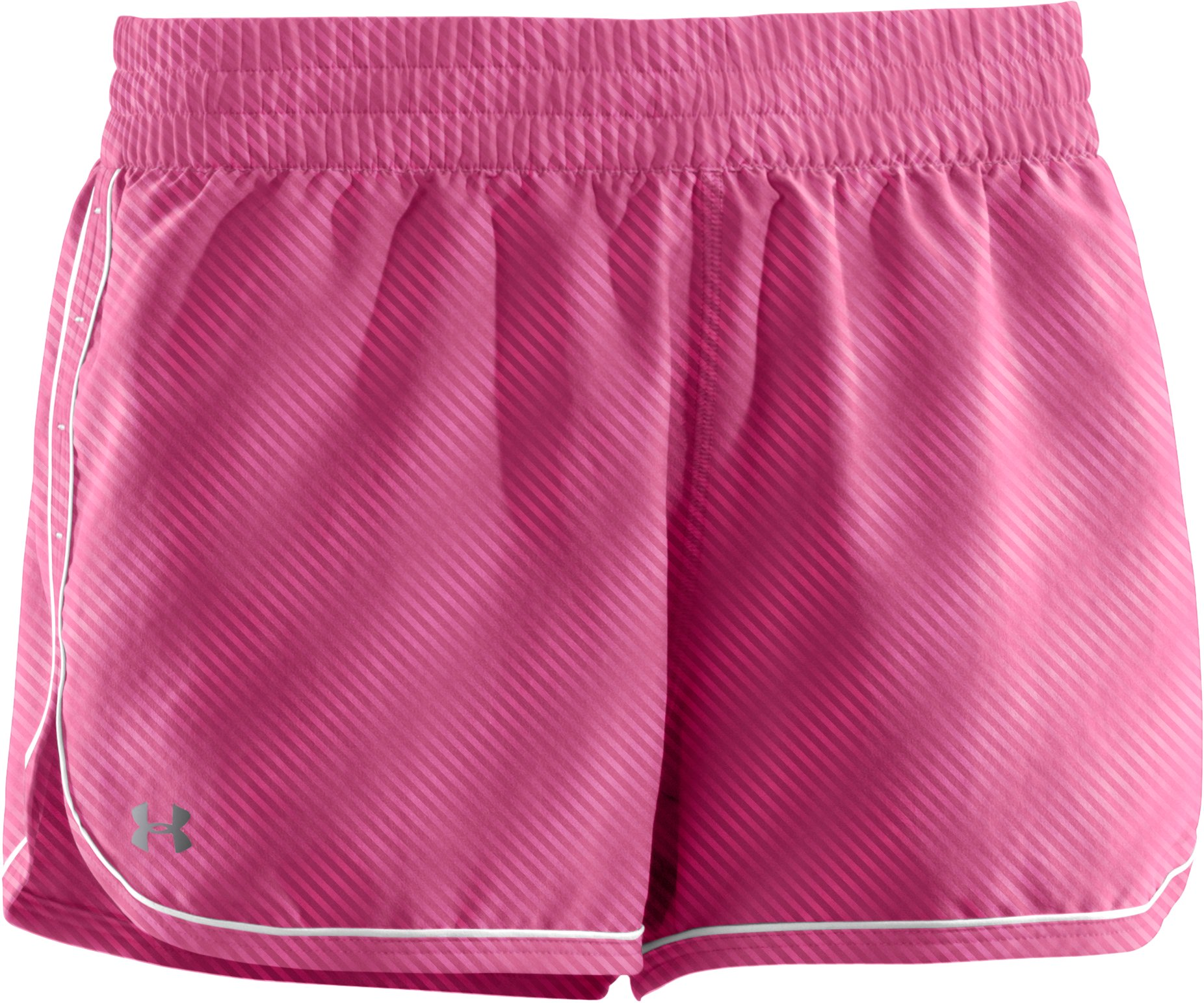 Women's UA Great Escape Printed Shorts II, Fluo Pink,