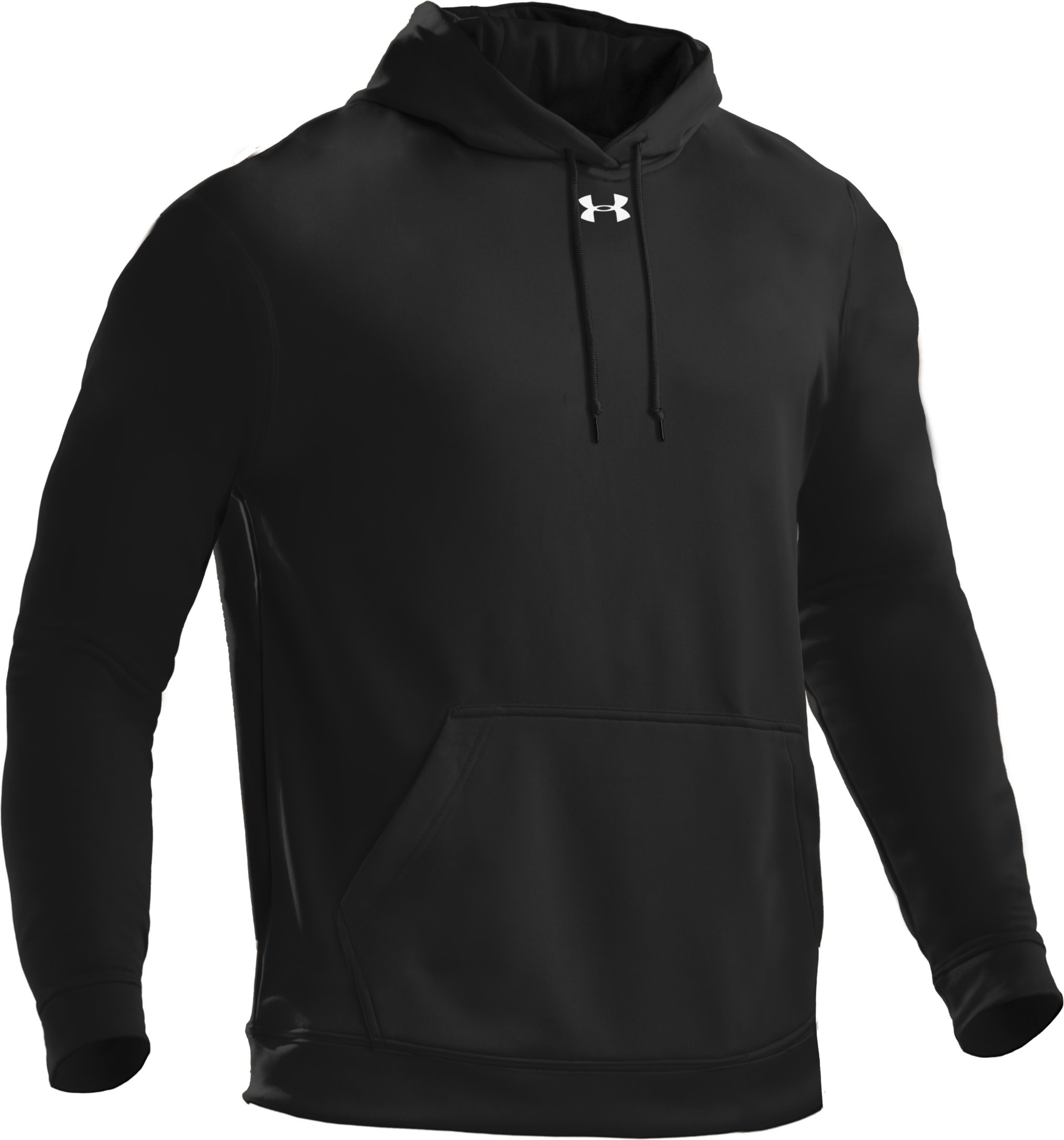 Men's Armour® Fleece Team Hoodie, Black