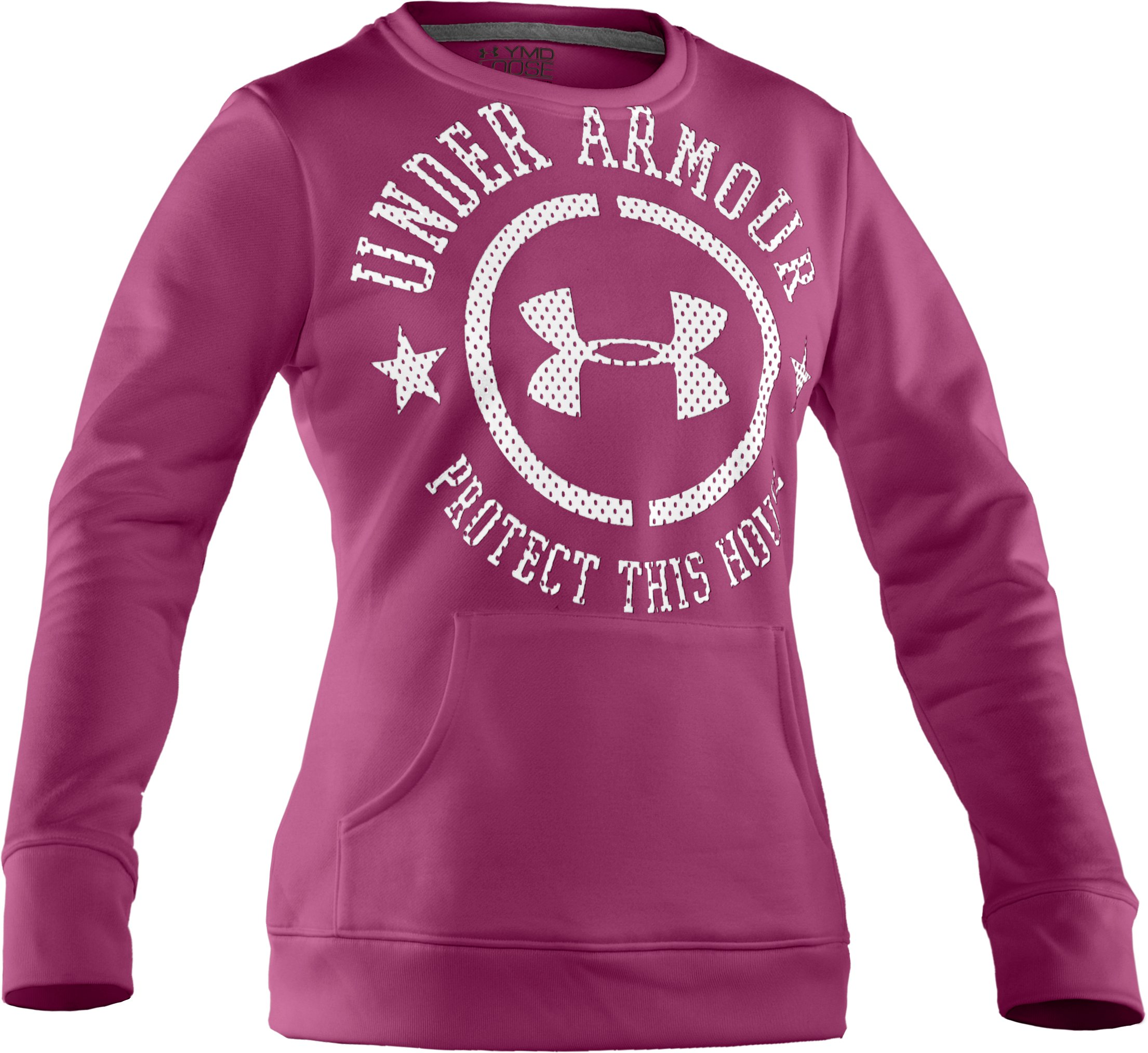 Girls' UA Spirit Crew, Rosewood, zoomed image