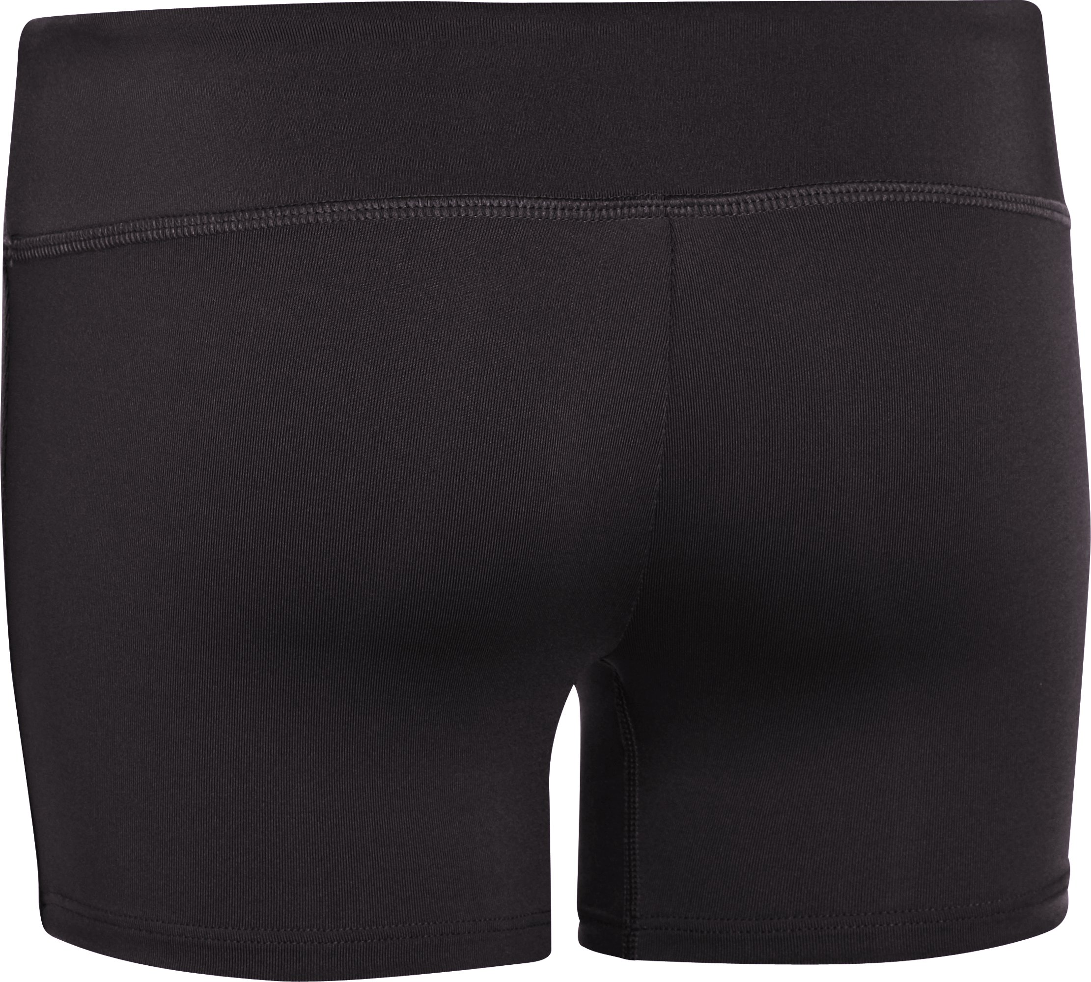 "Girls' HeatGear® Sonic 3"" Shorts, Black , undefined"