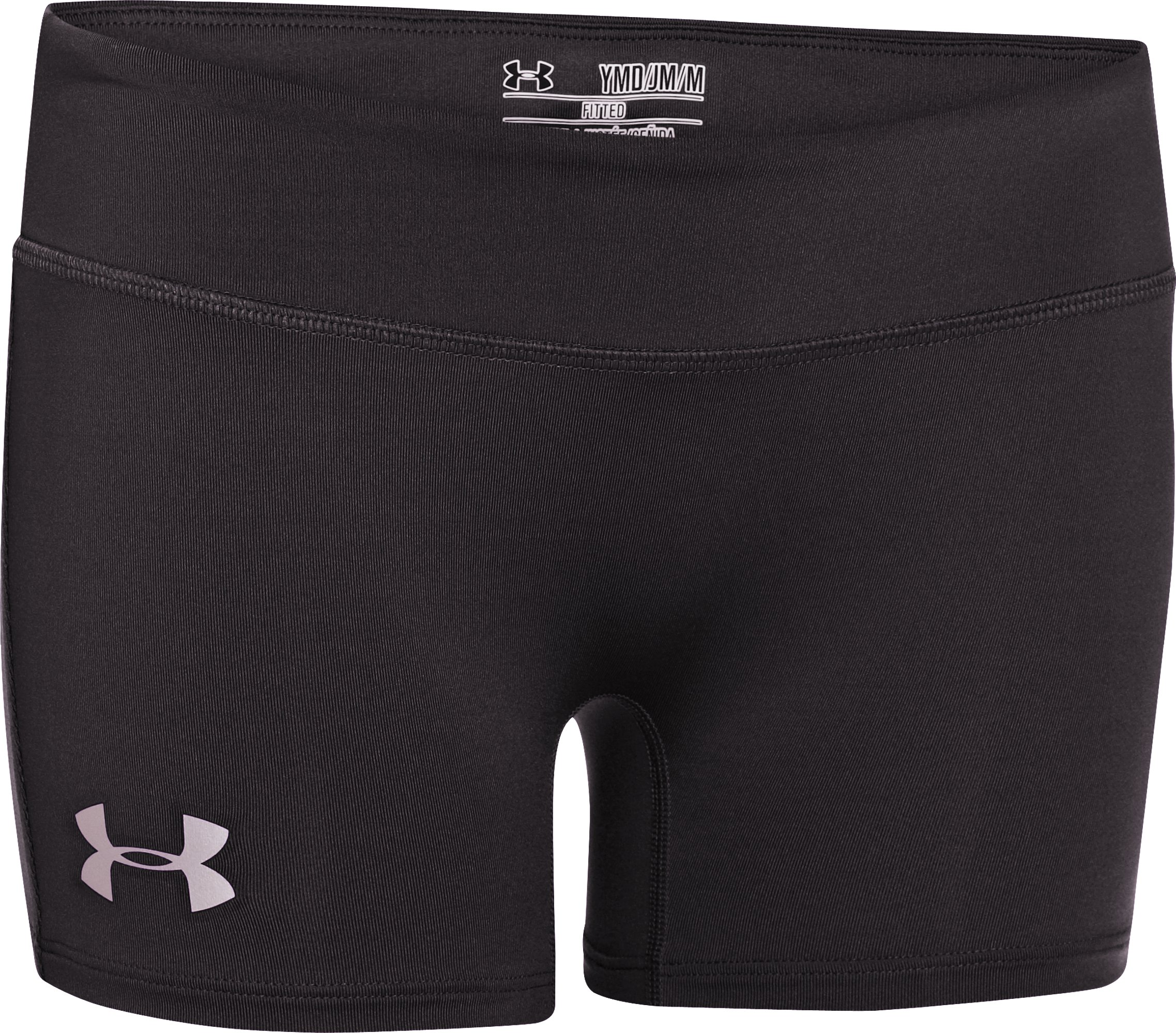 "Girls' HeatGear® Sonic 3"" Shorts, Black"