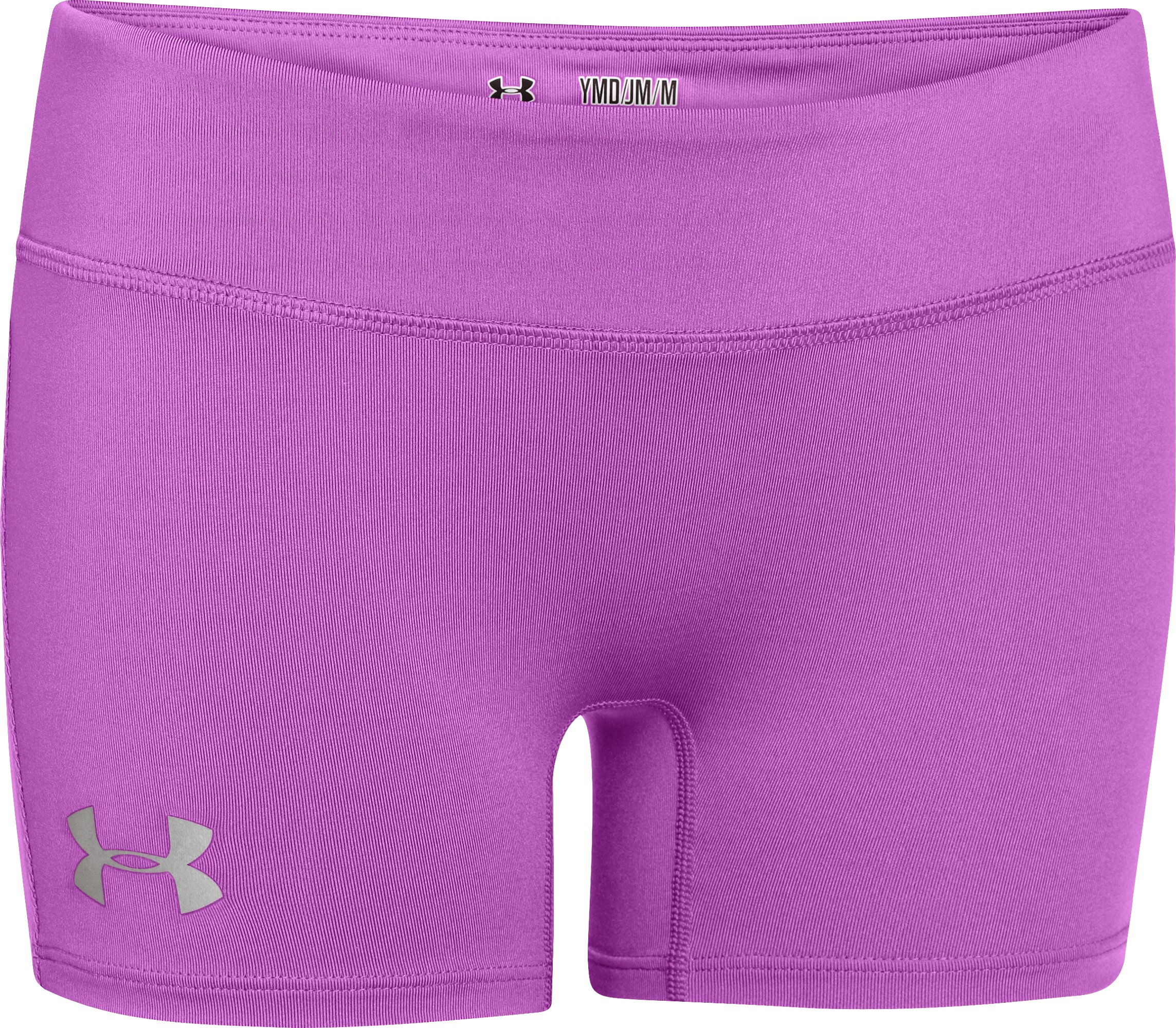 "Girls' HeatGear® Sonic 3"" Shorts, EXOTIC BLOOM, zoomed image"