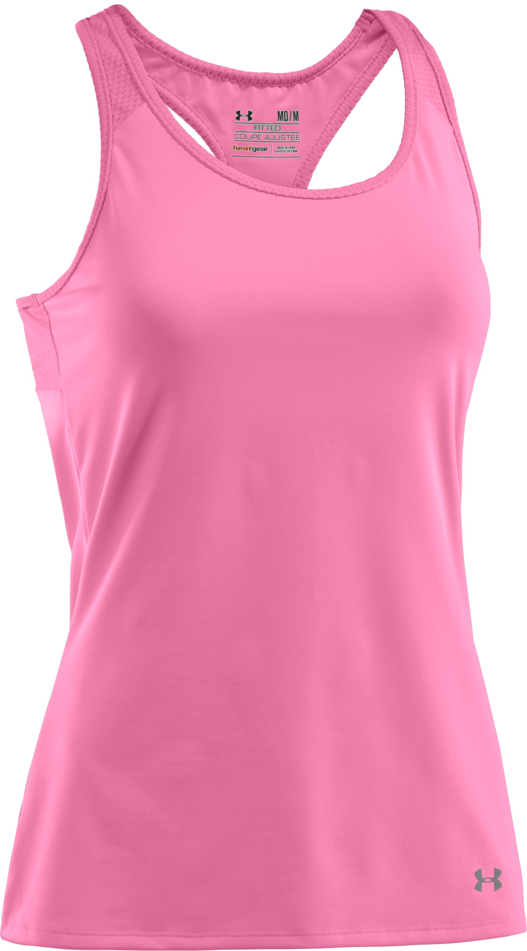 Women's UA See Me Go Support Tank, Fluo Pink