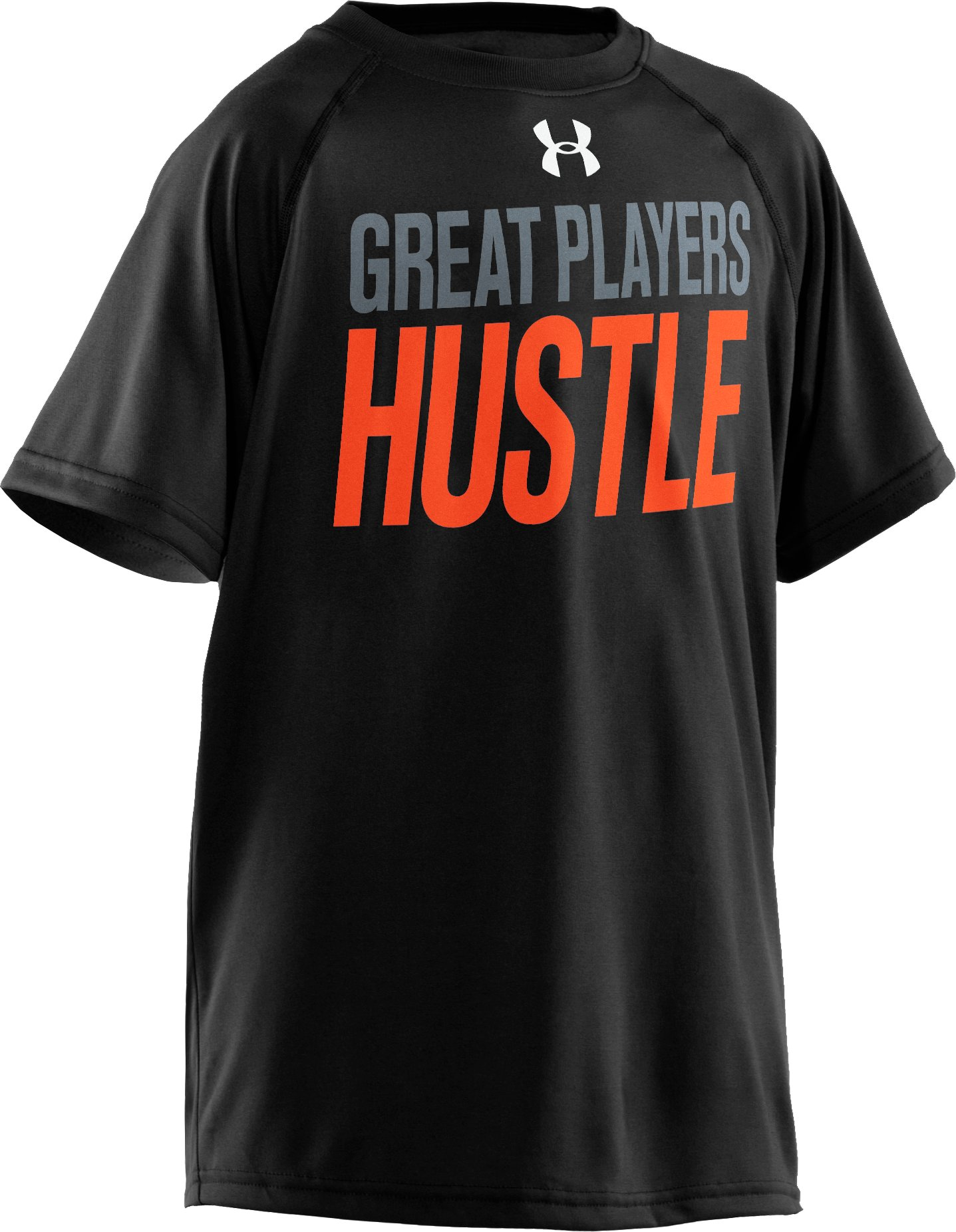 Boys' UA Players Hustle T-Shirt, Black