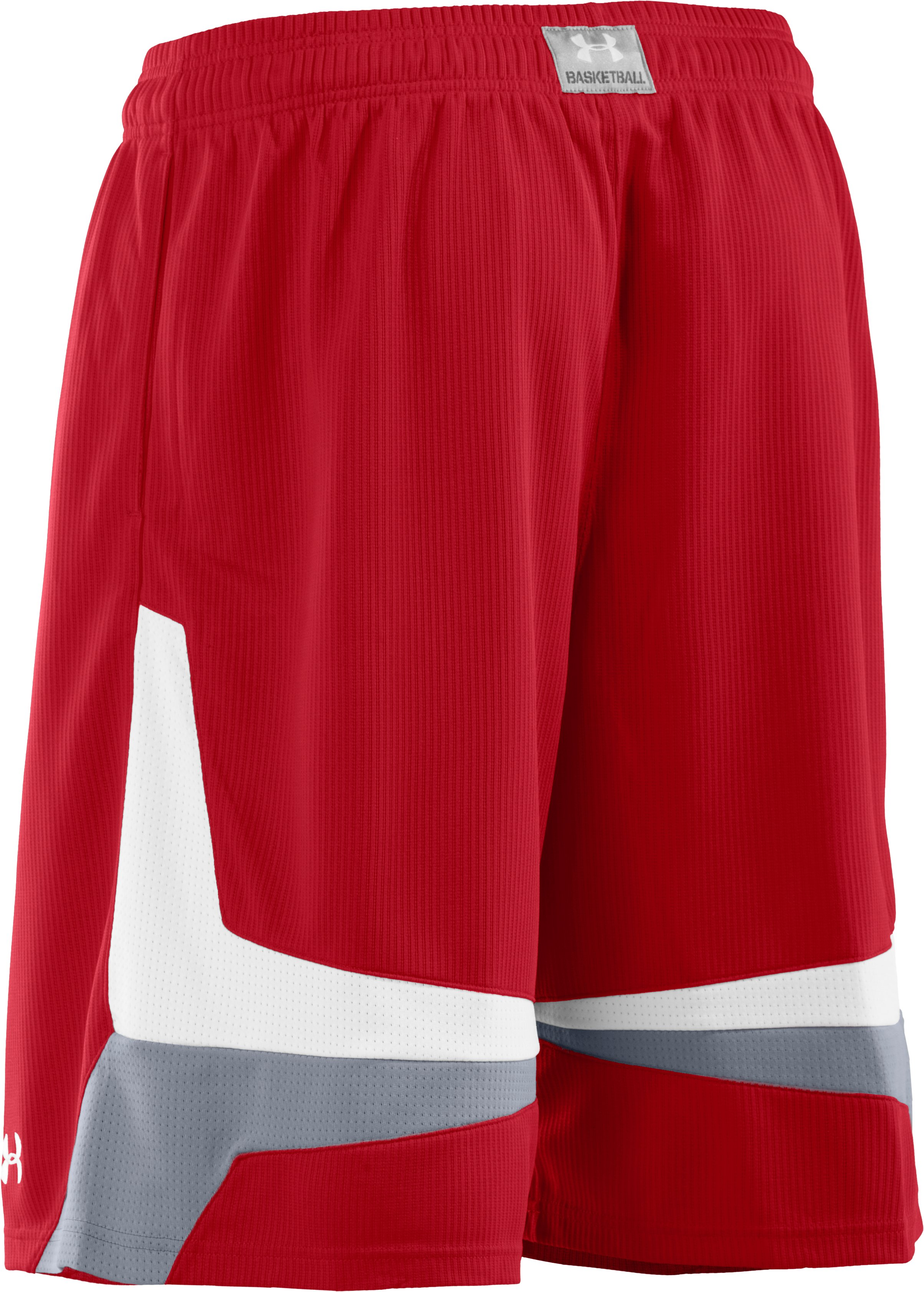 "Men's UA Mustang 10"" Basketball Shorts, Red"
